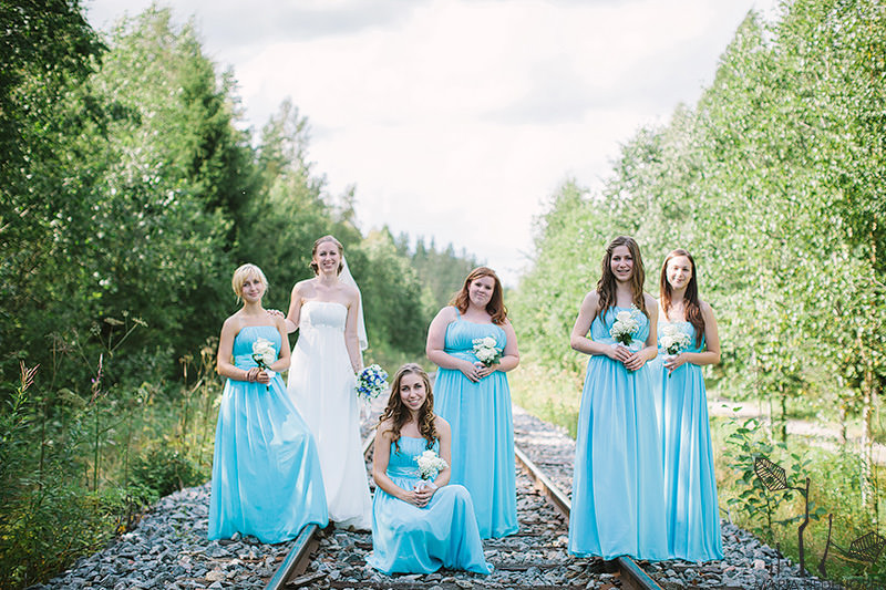 bridesmaids baby blue