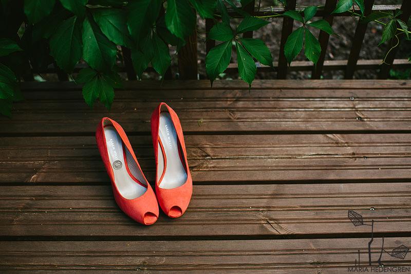 salmon wedding shoes