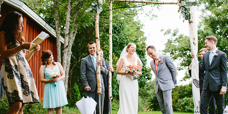 outdoor wedding Finland