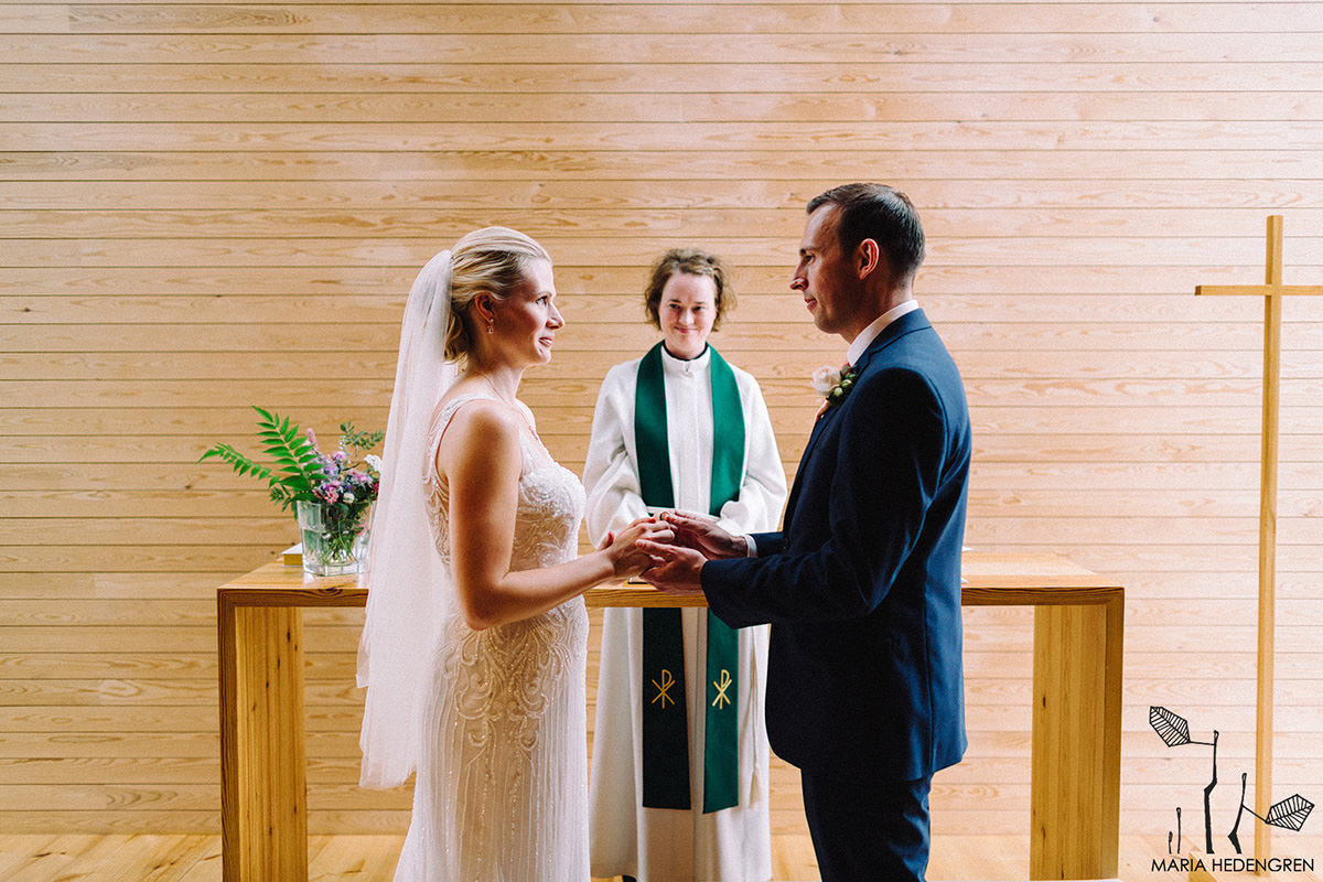wood chapel wedding