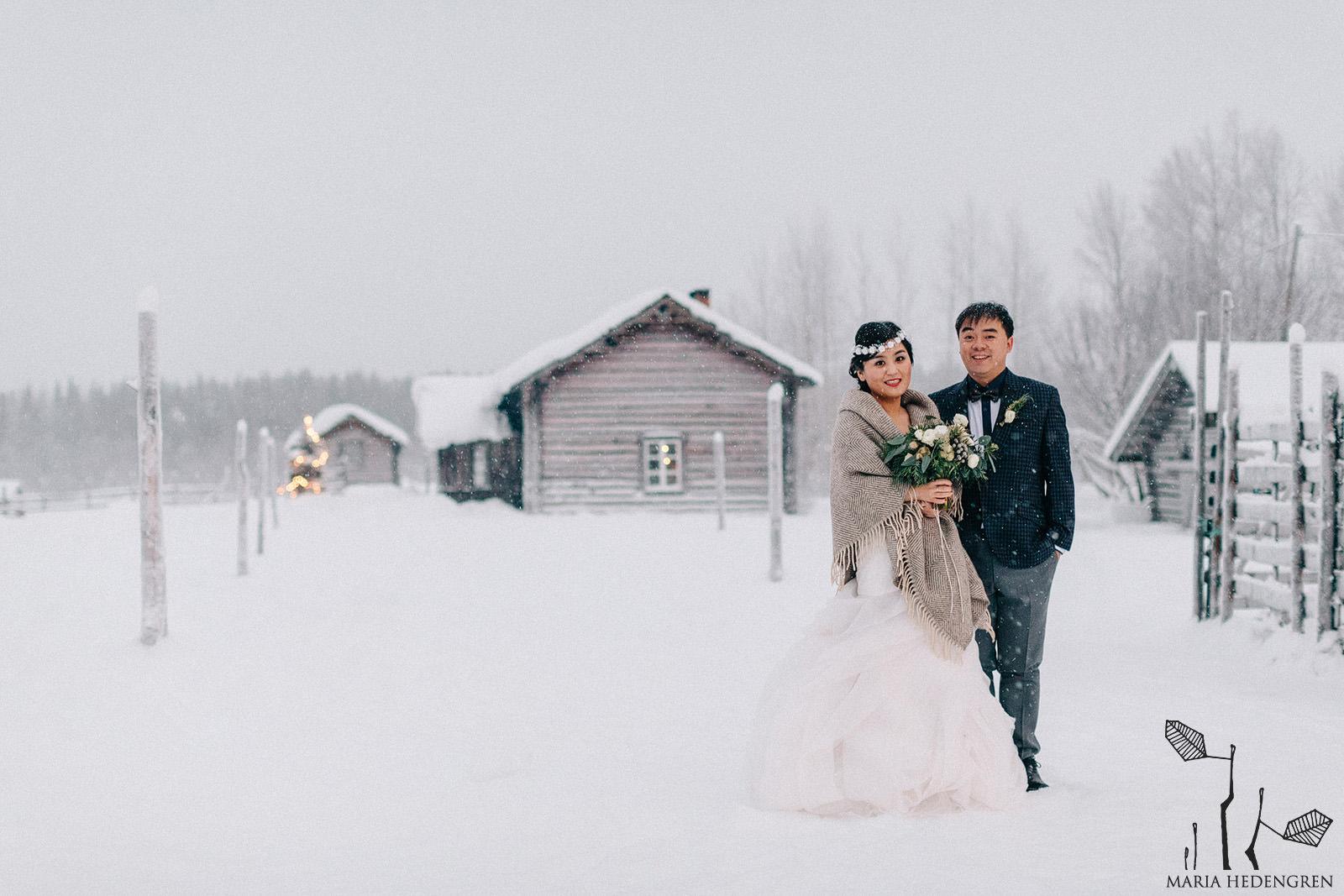 pre-wedding session Lapland