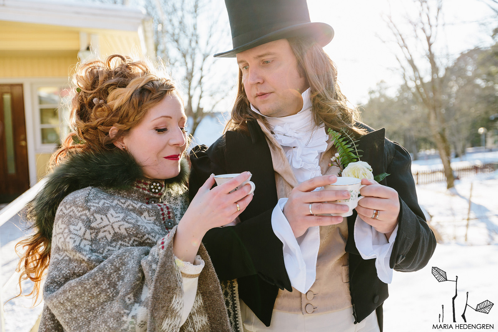 Regency winter wedding