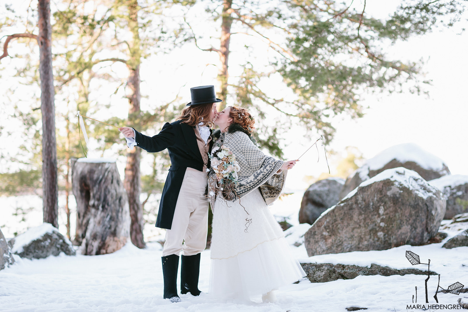 Jane Austen inspired winter wedding