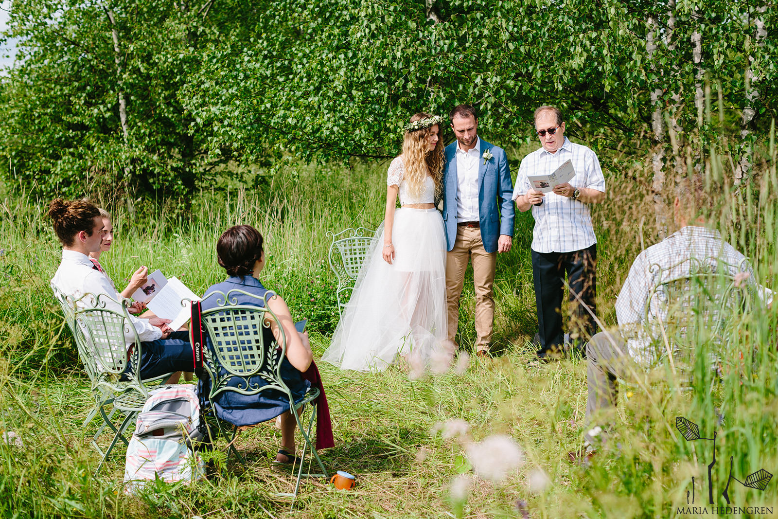 wedding in a clearing