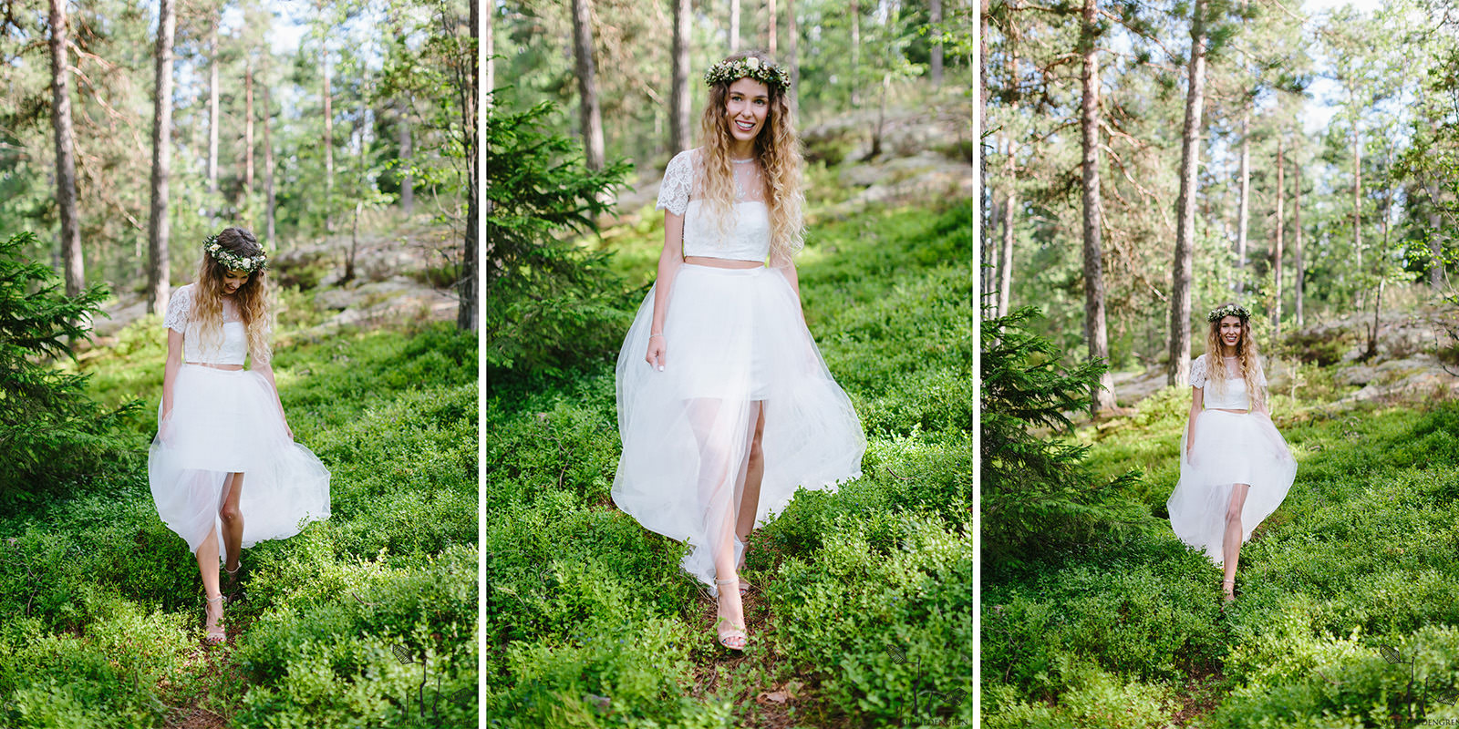 Finnish forest wedding