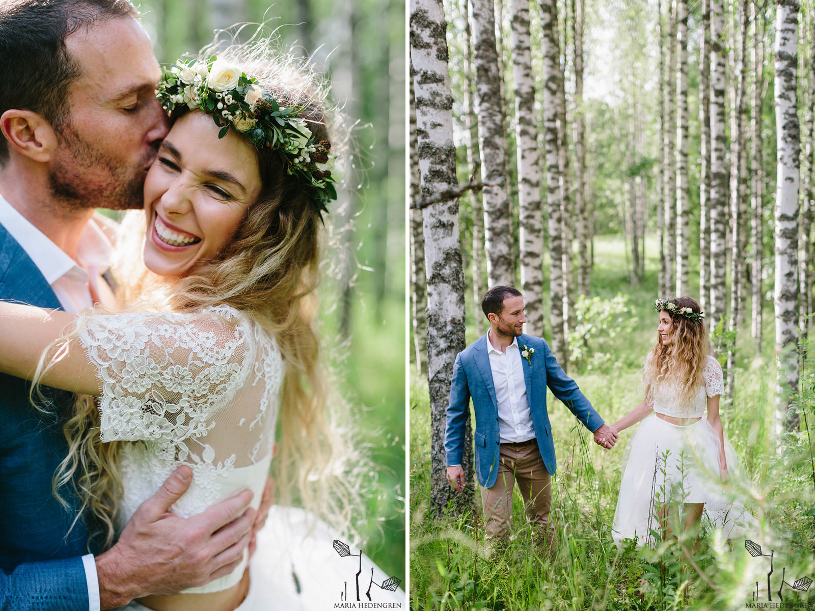 birch forest wedding