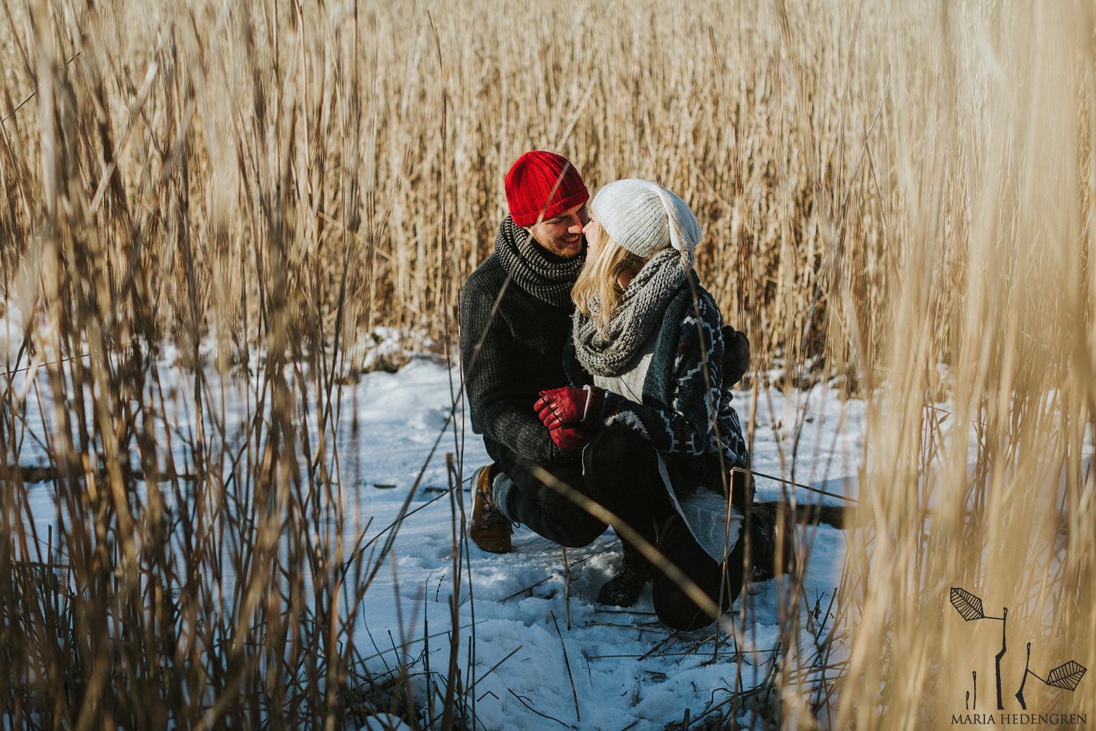 kihlakuvat talvella