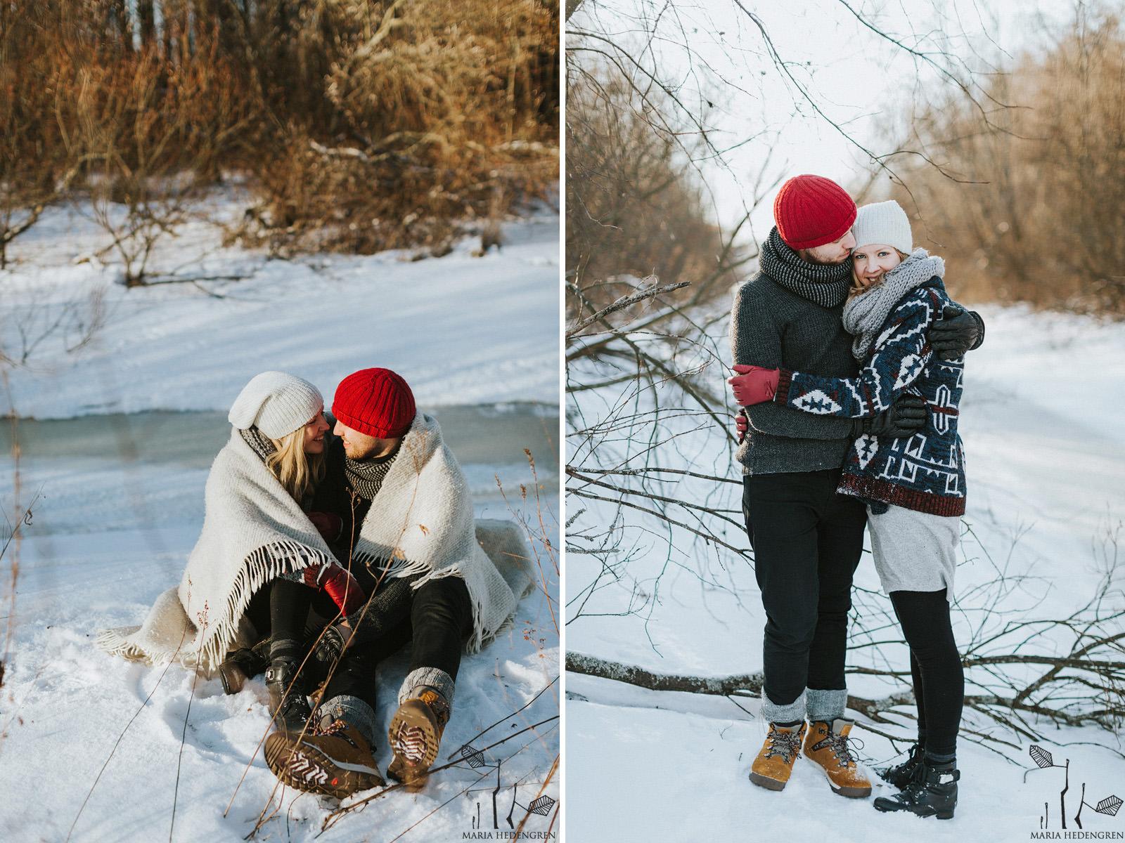 talviset kihlakuvat