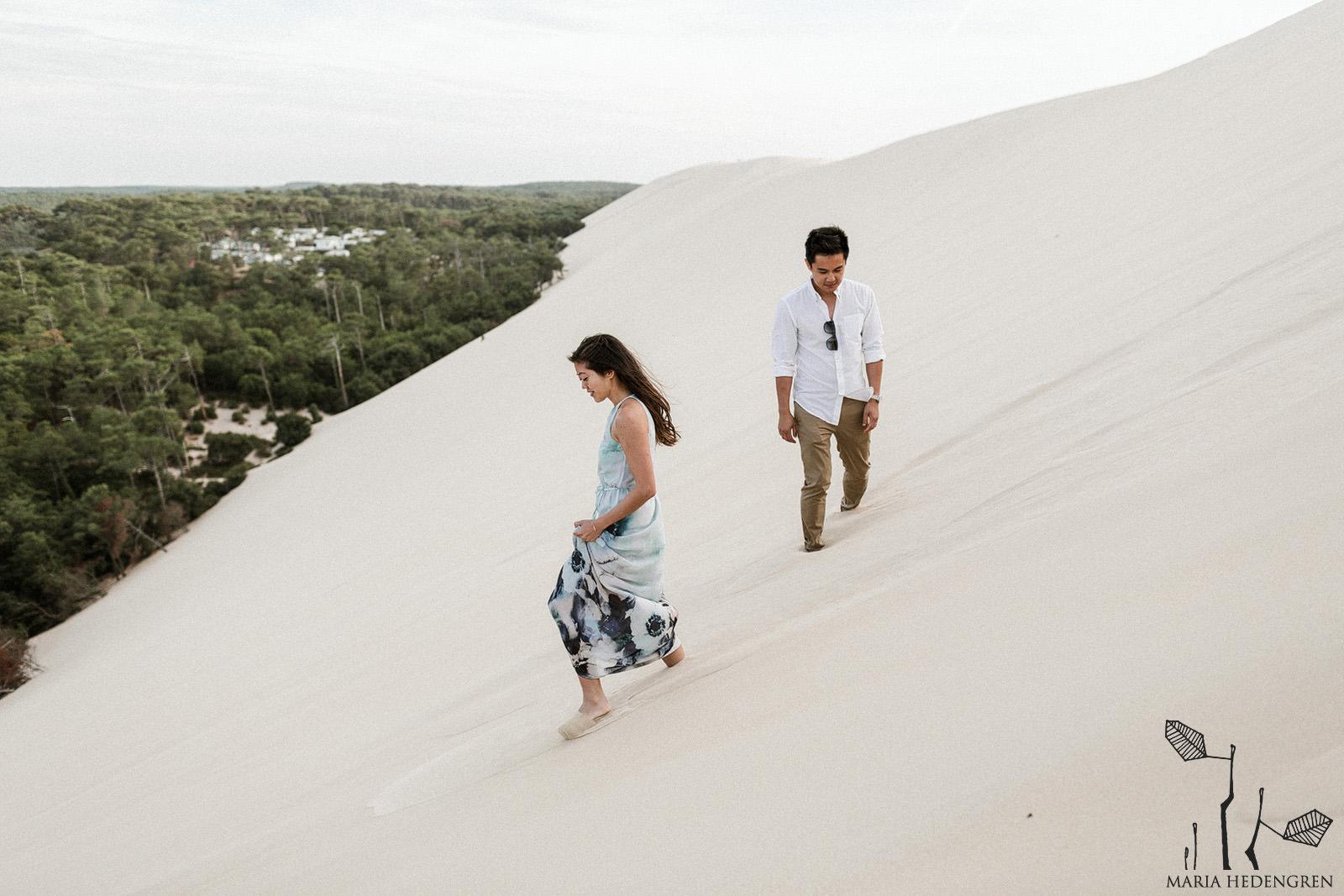 sand dune wedding
