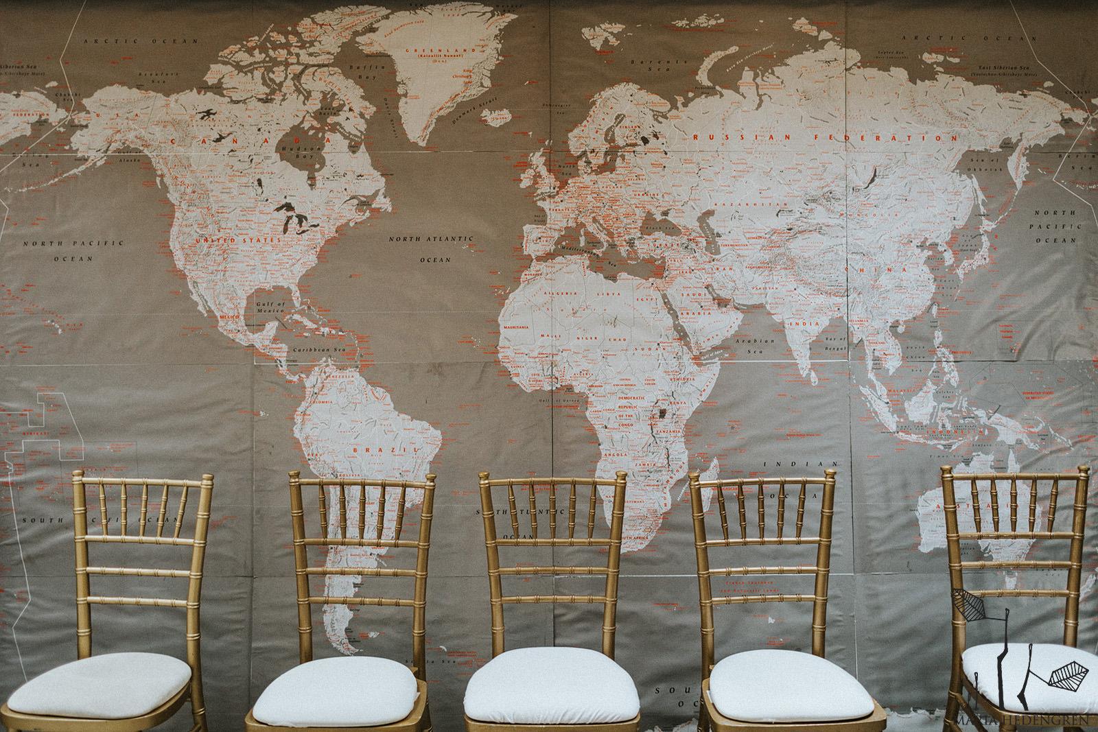 wedding world map