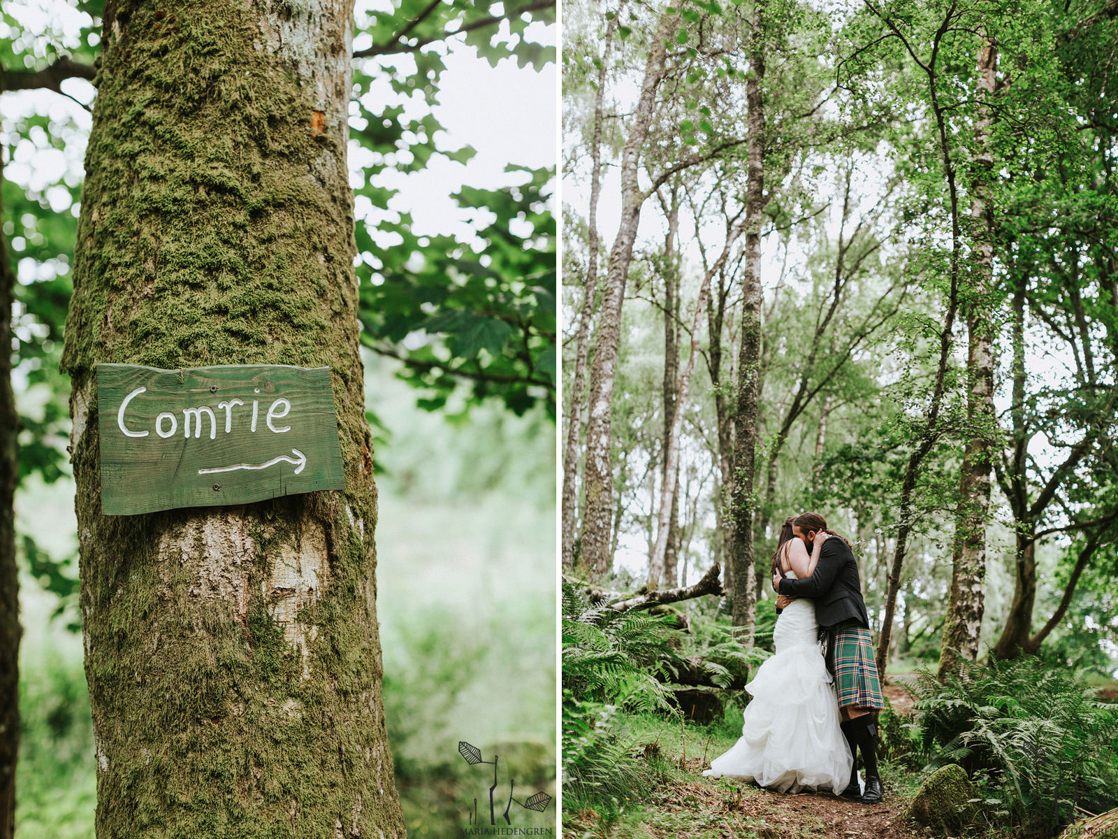 comrie croft wedding