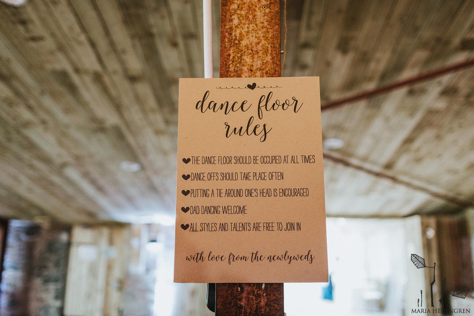 dance floor rules