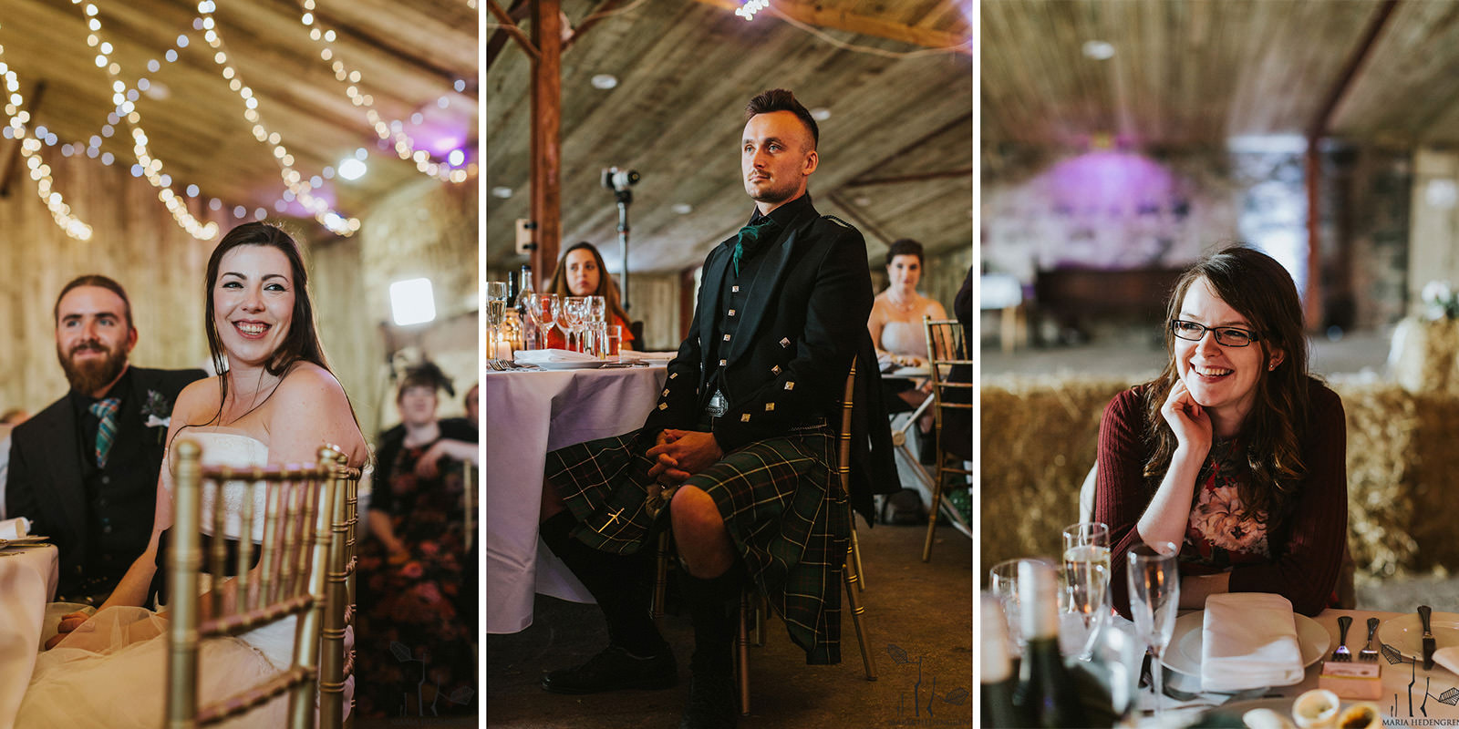 comrie croft barn wedding