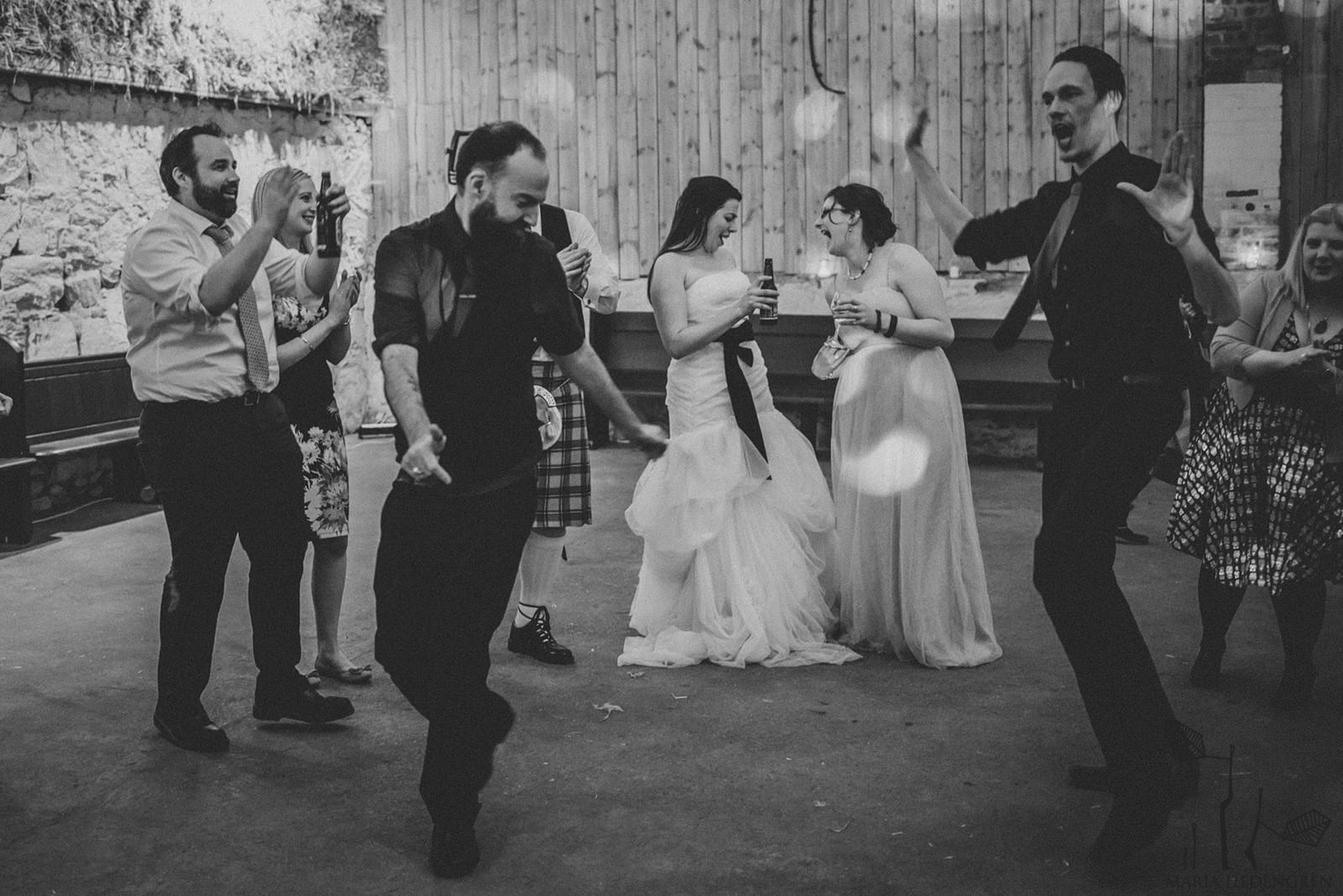 Wedding Ceilidh dancing
