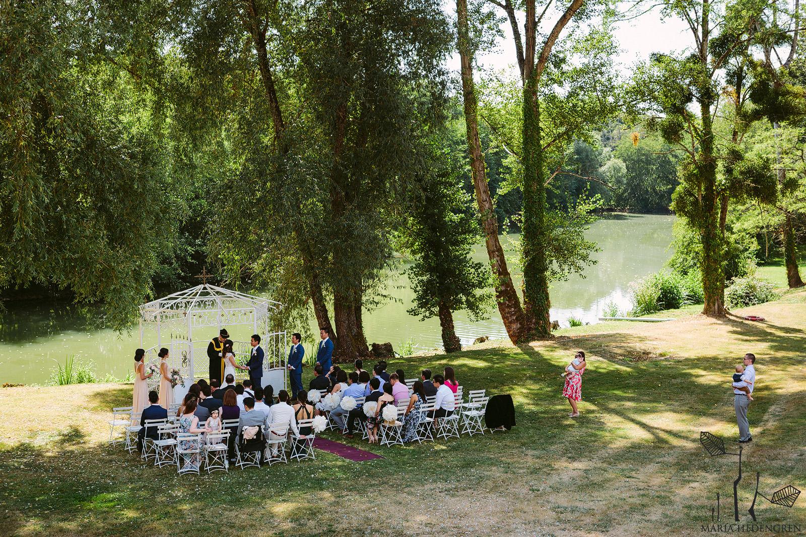 chateau lagorce wedding outdoor