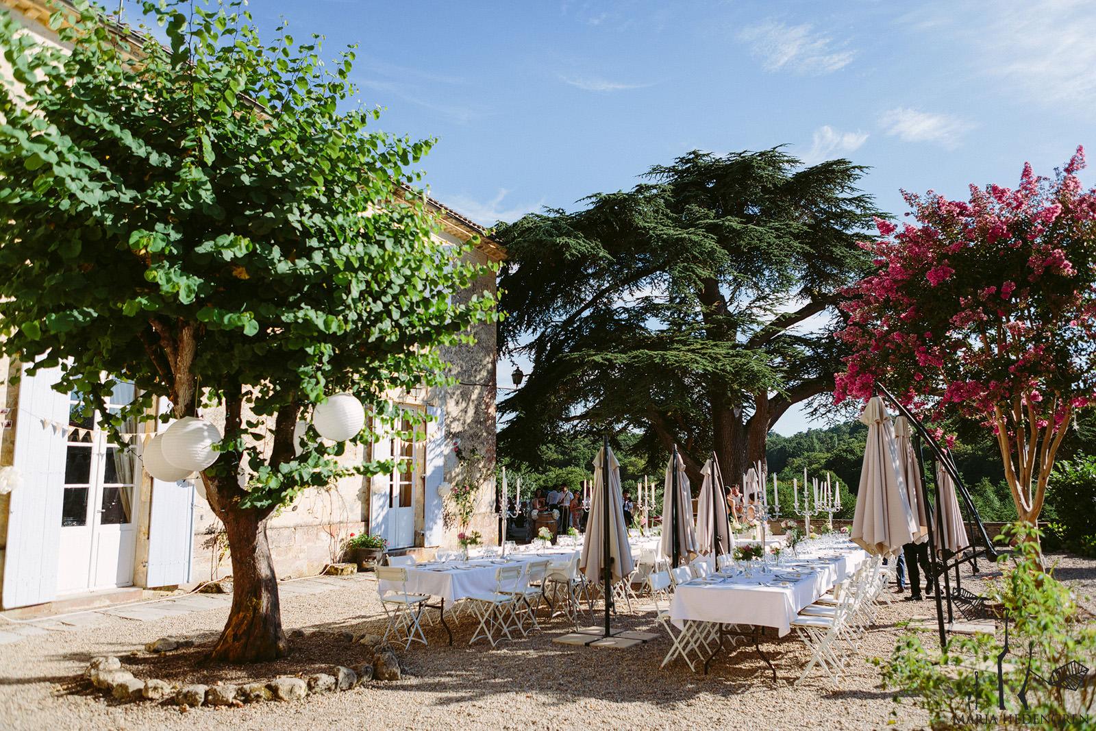 chateau lagorce garden