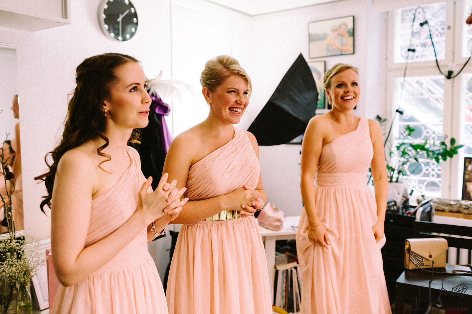 peach bridesmaids dresses
