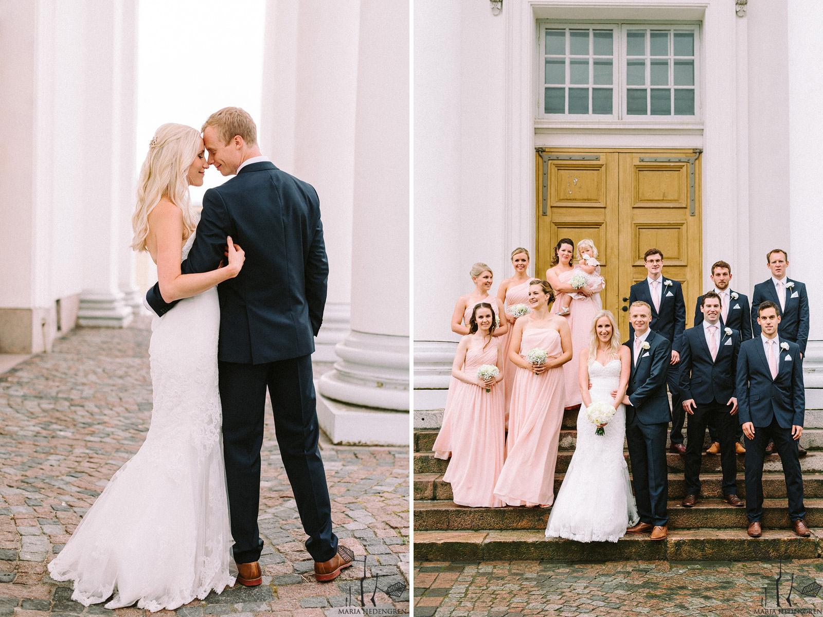 Helsinki cathedral wedding photos