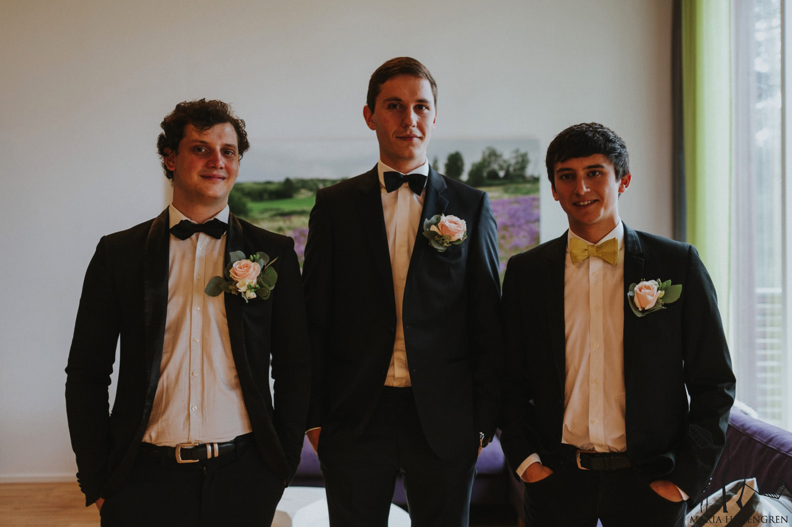 French groomsmen