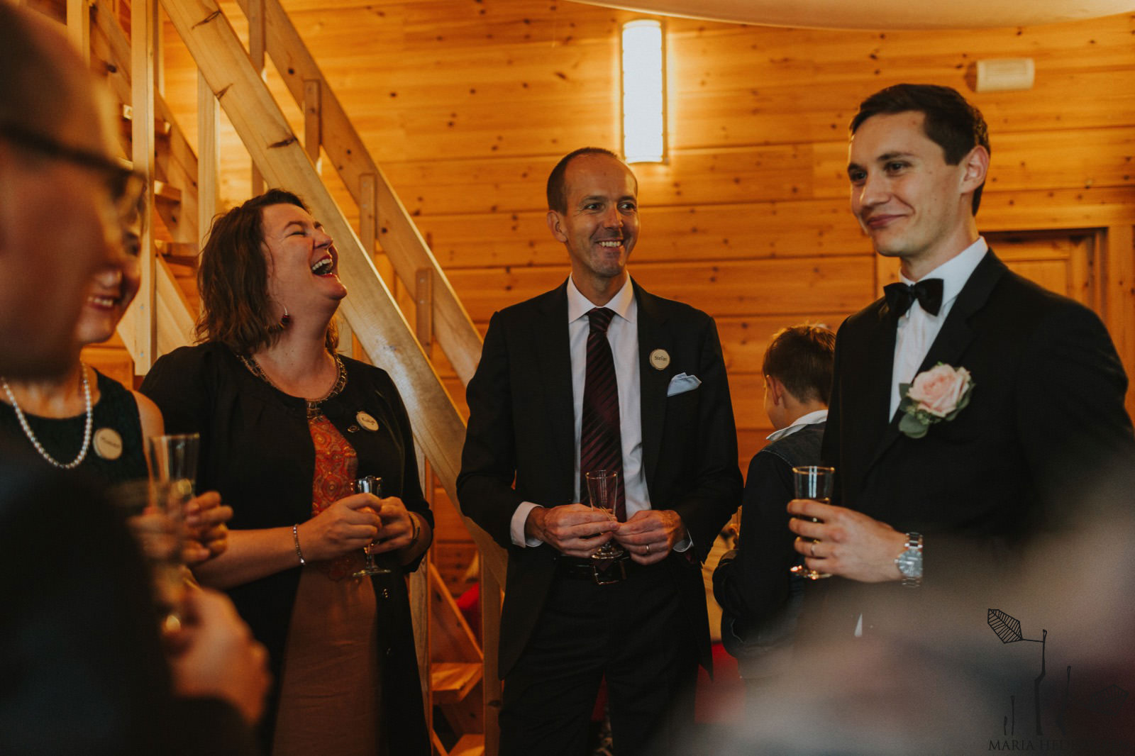Russian wedding guests