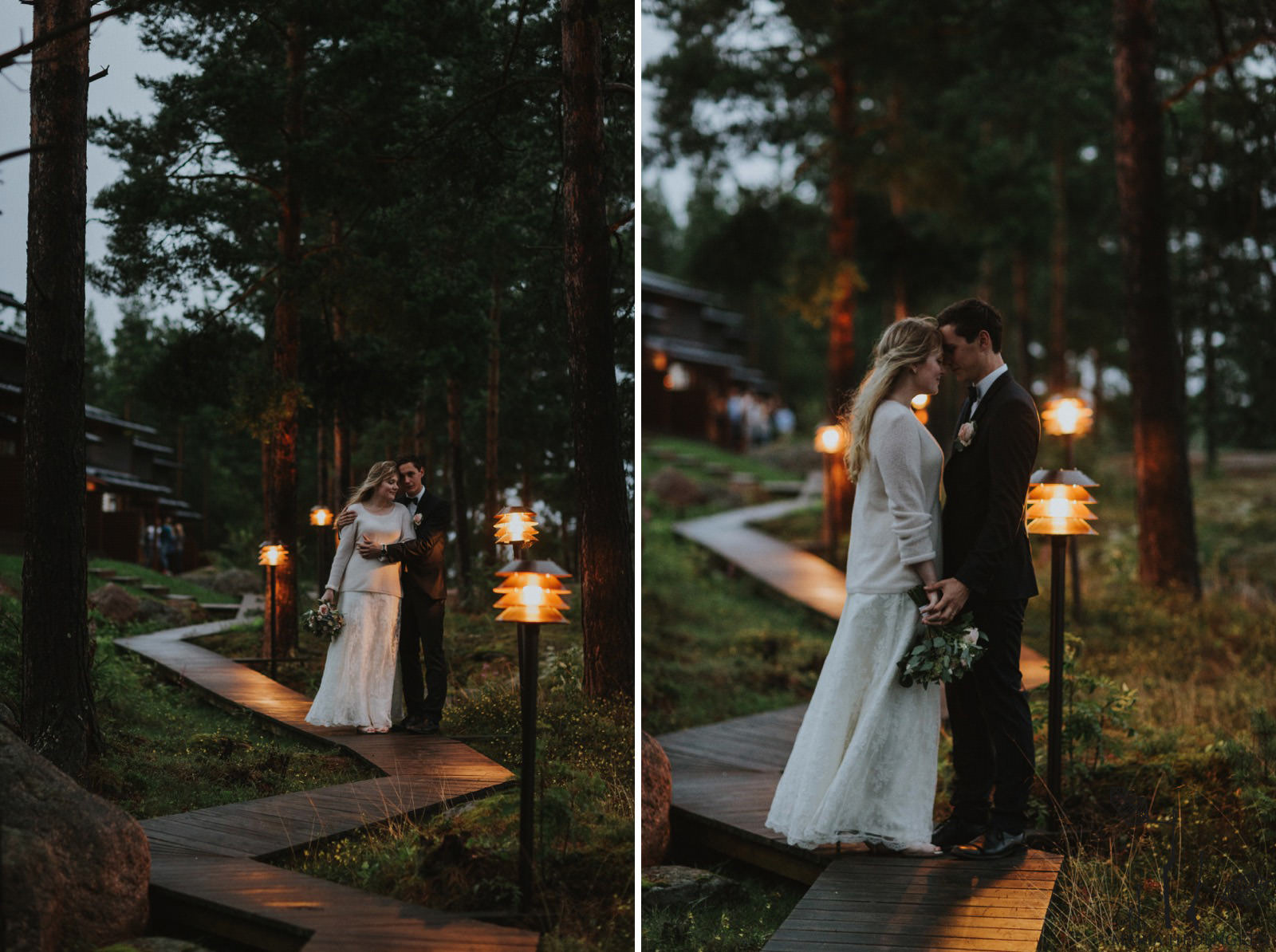 night wedding in Finland