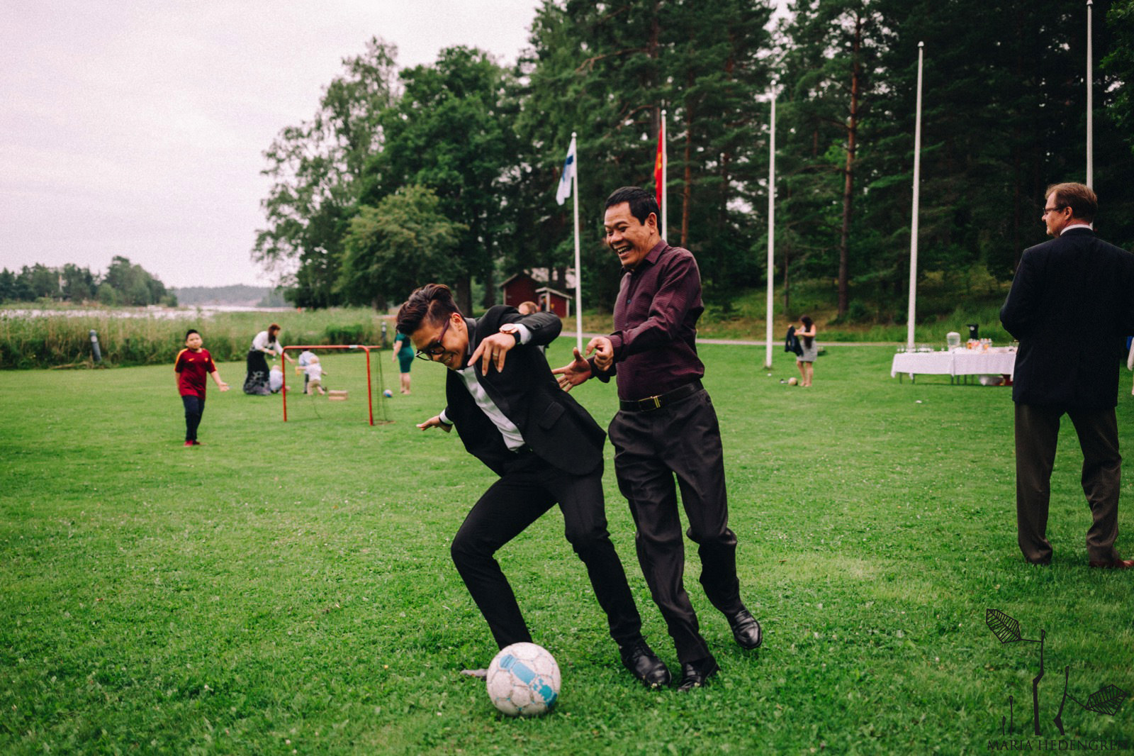 wedding football