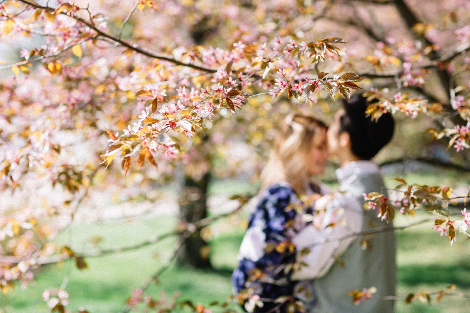 Japanese garden engagement