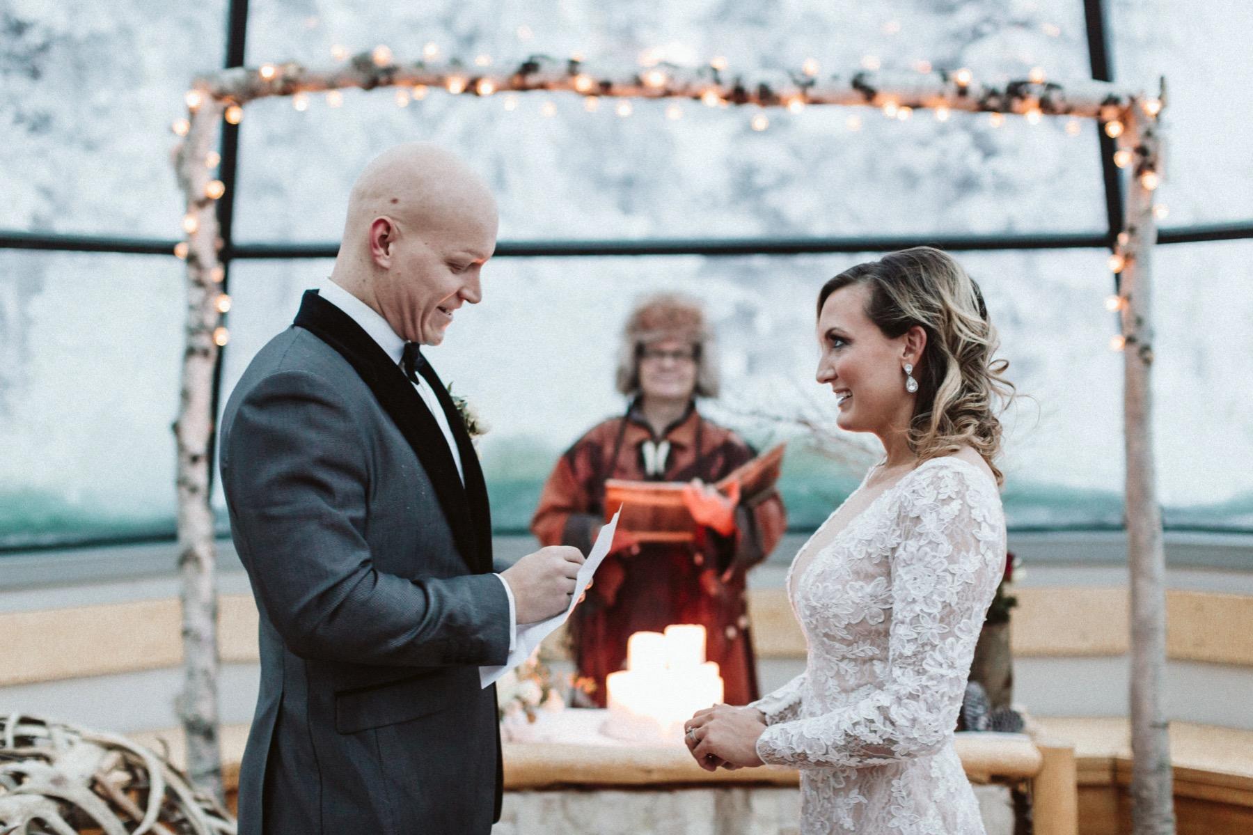 glass tepee wedding