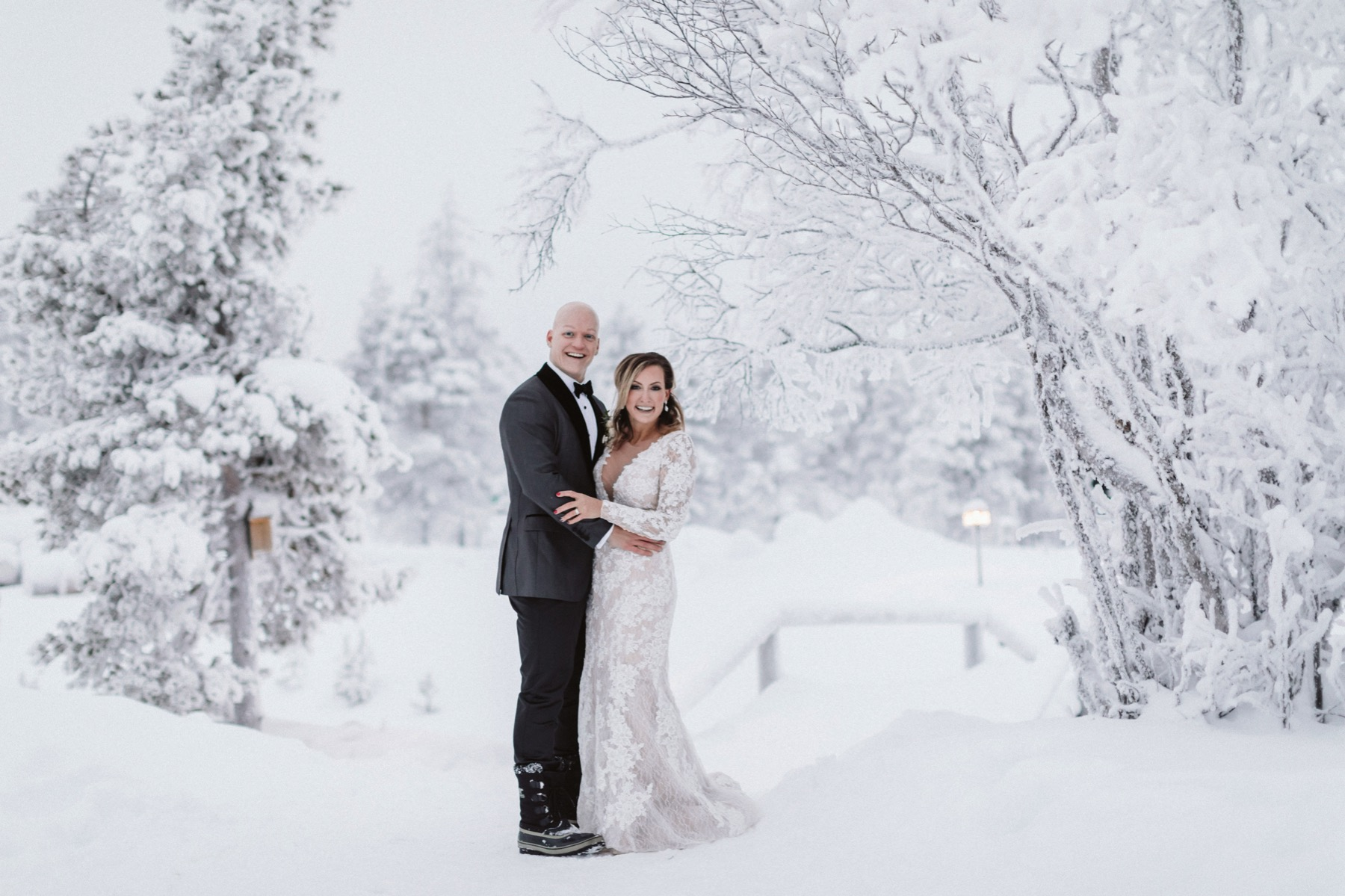 Lapland winter elopement