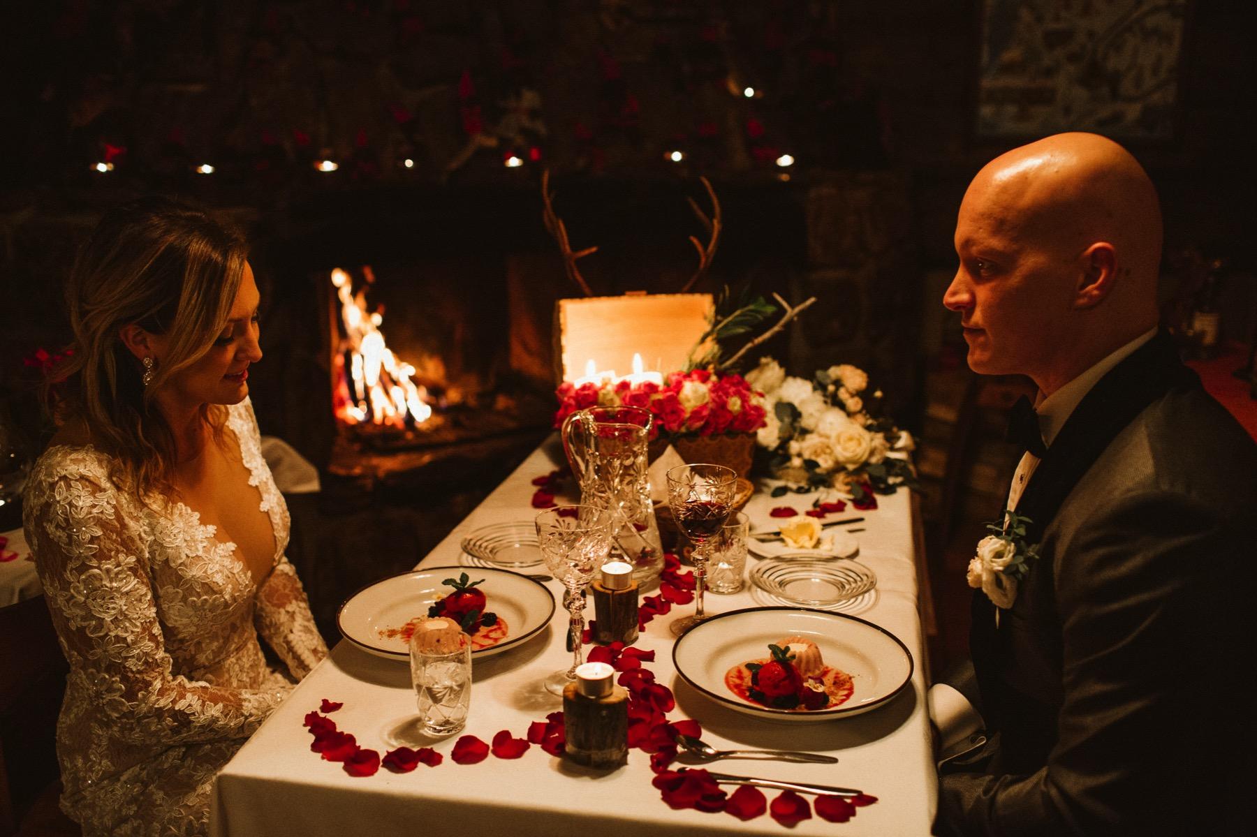 Kakslauttanen wedding dinner