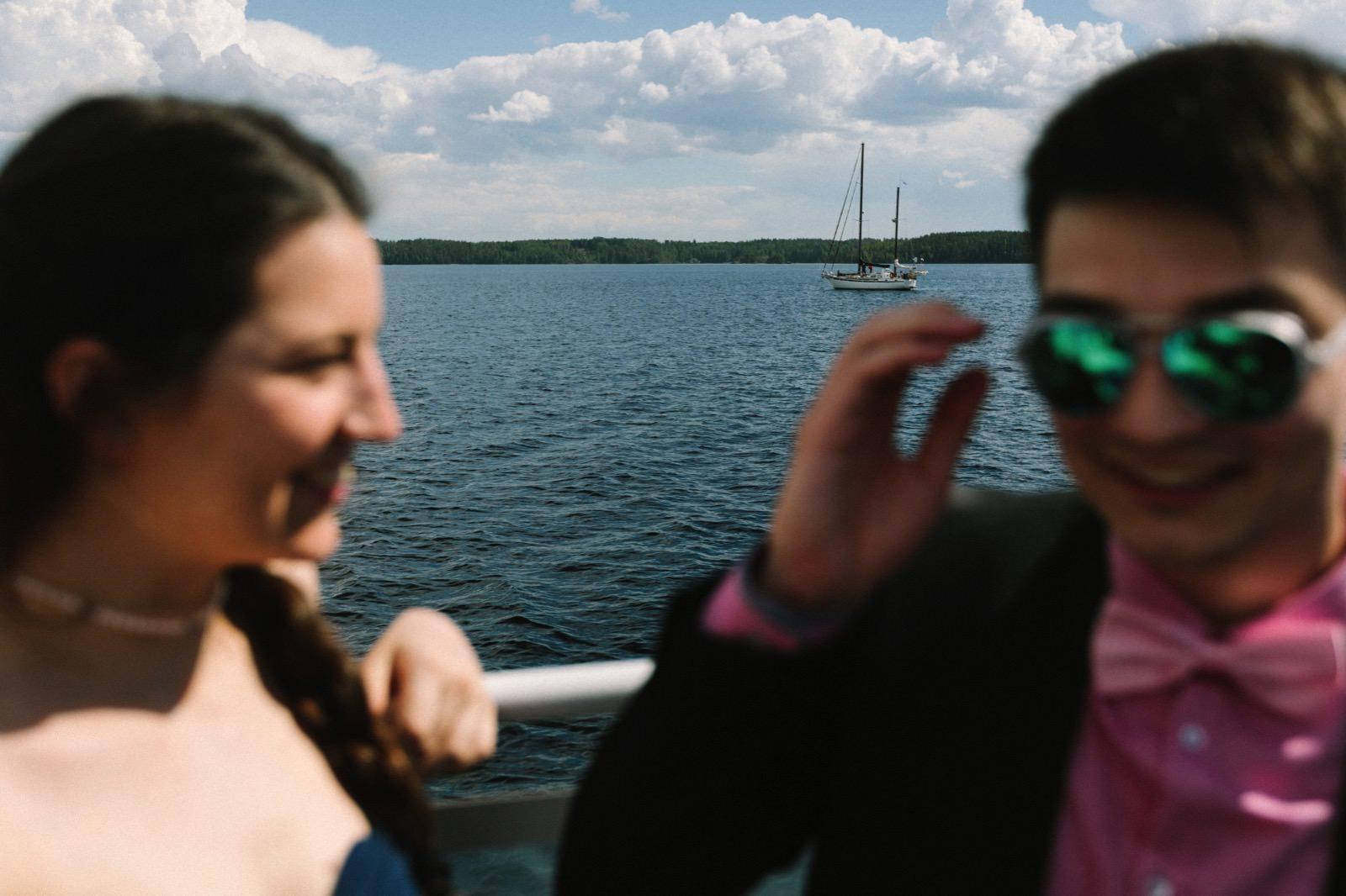 Saimaa lake boat