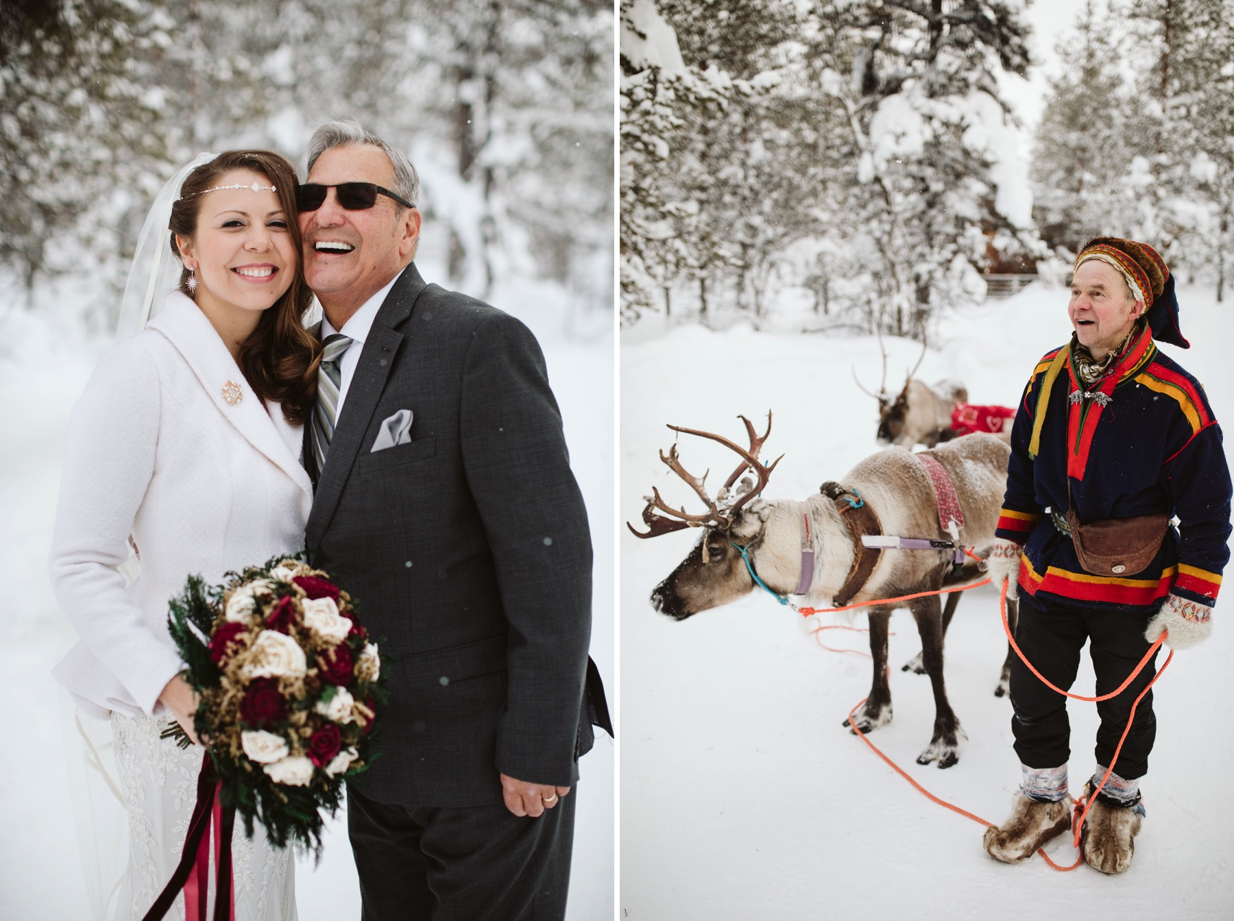 wedding reindeer ride