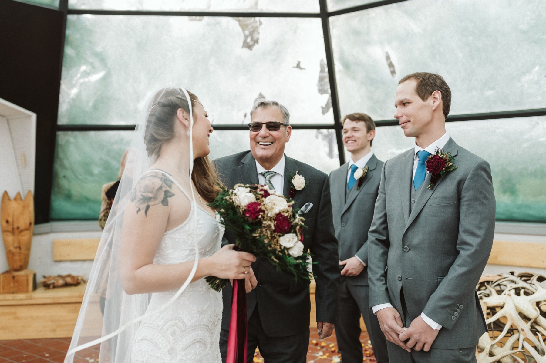 glass teepee ceremony