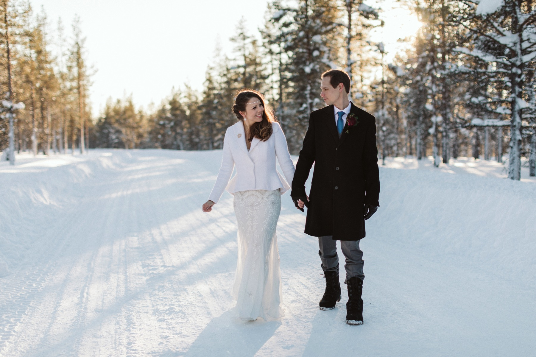 winter prewedding session