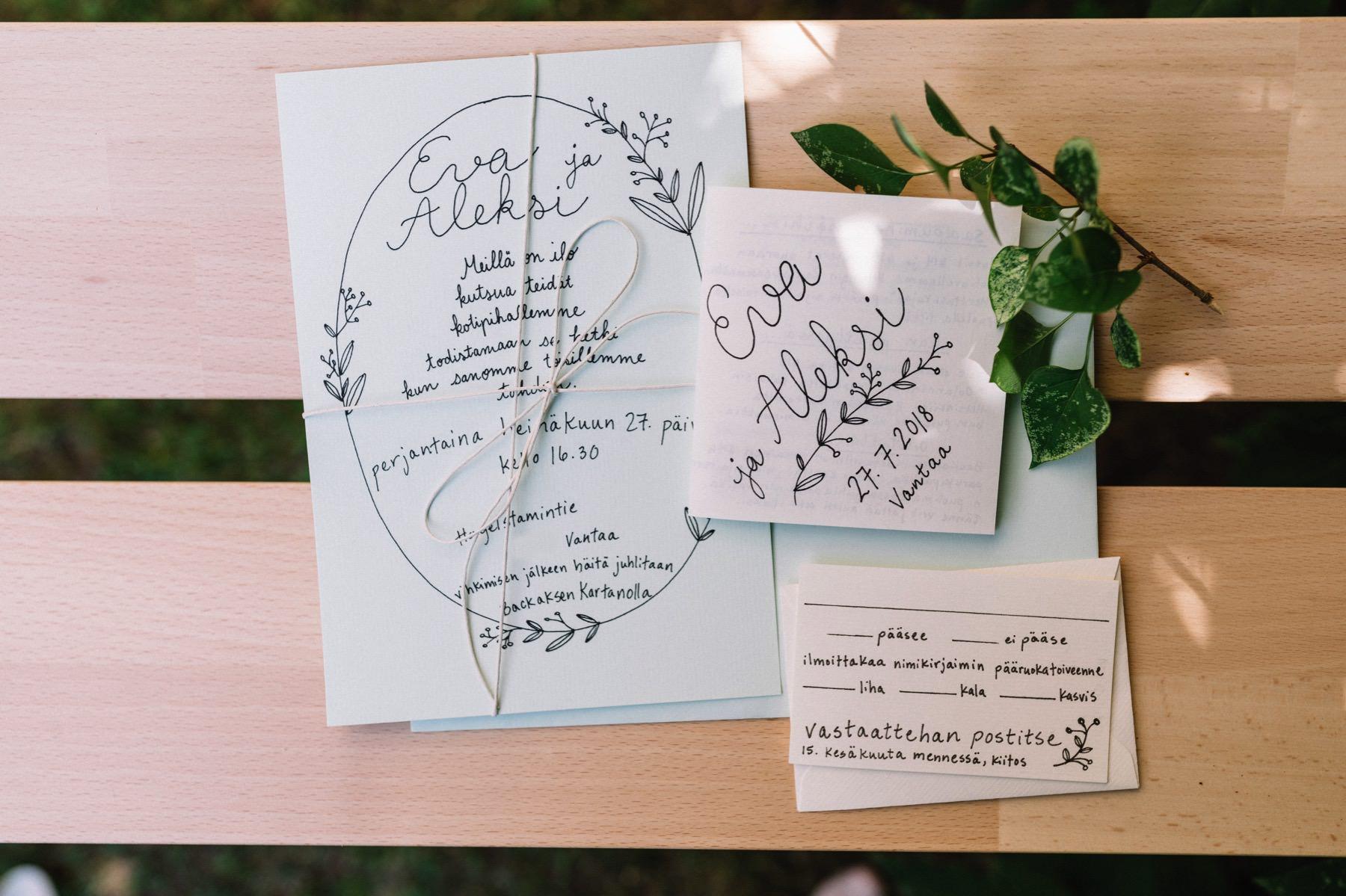 nad drawn wedding invitations