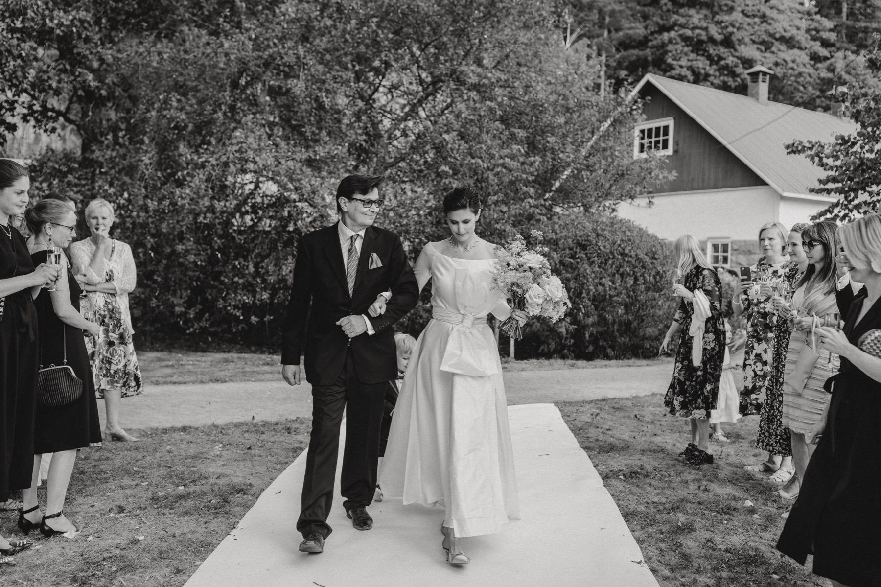 white carpet wedding