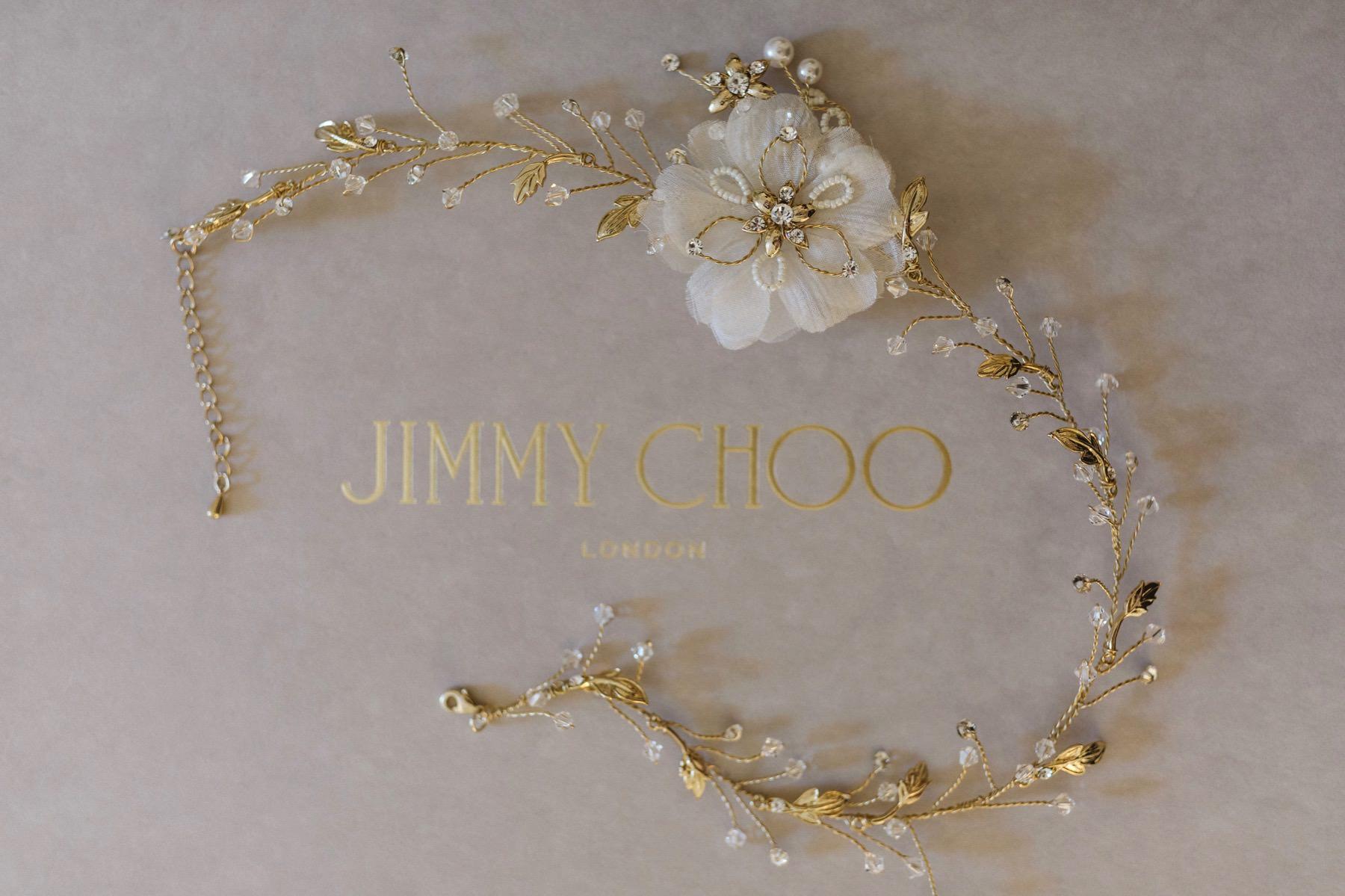 wedding details Jimmy Choo