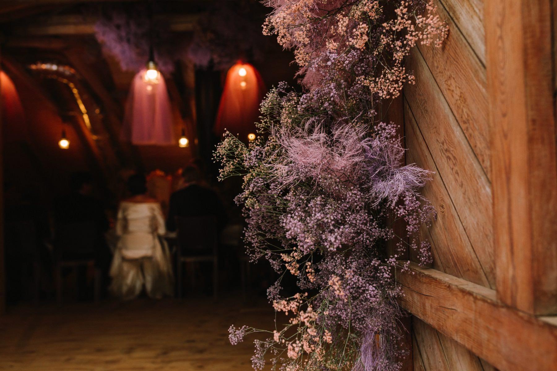 fucsia barn wedding