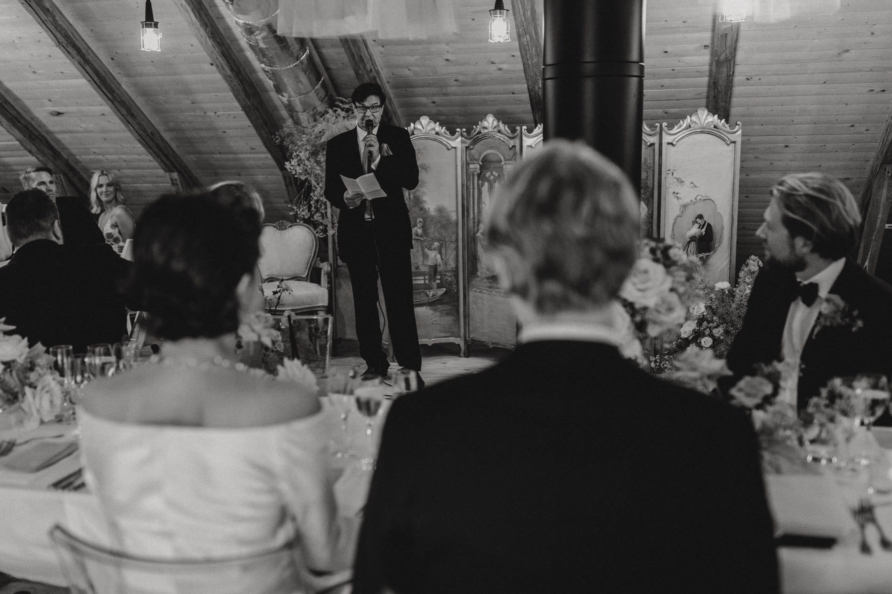wedding in a private barn