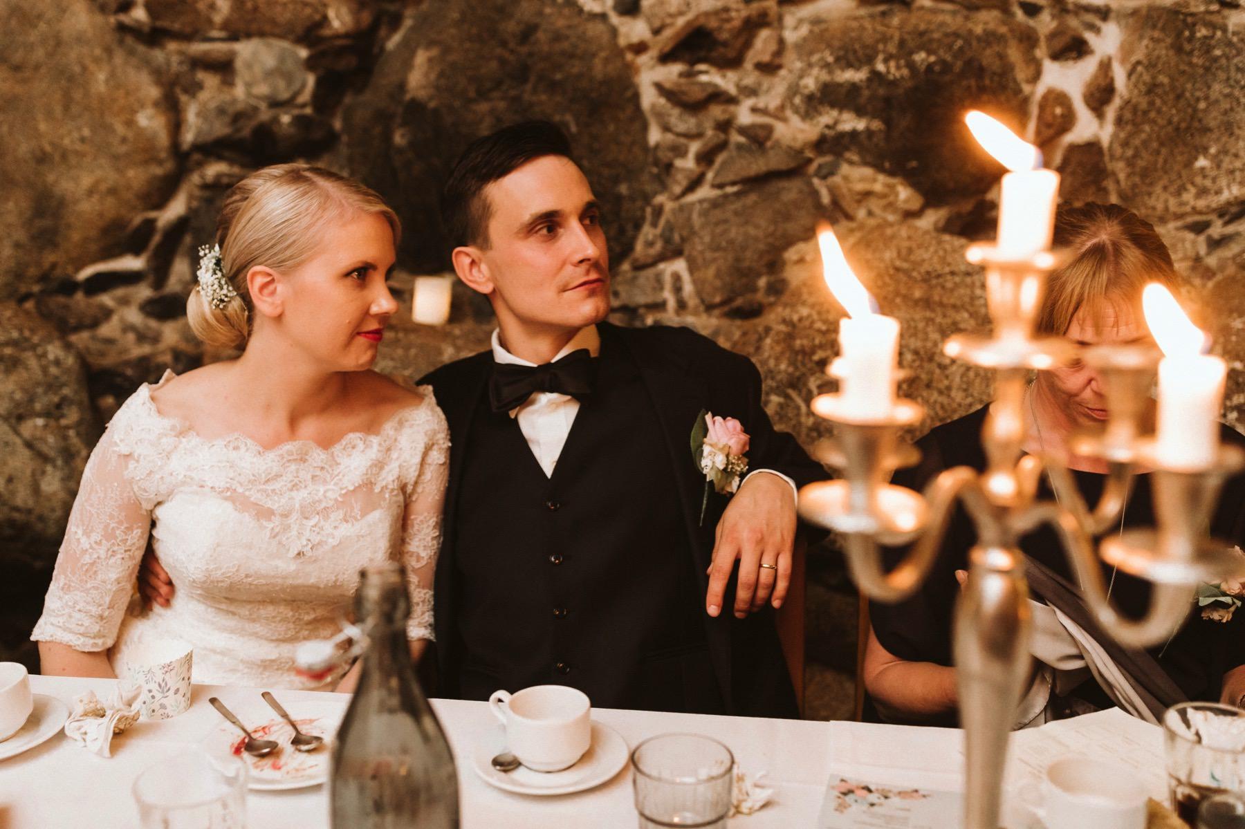 wedding in a cellar