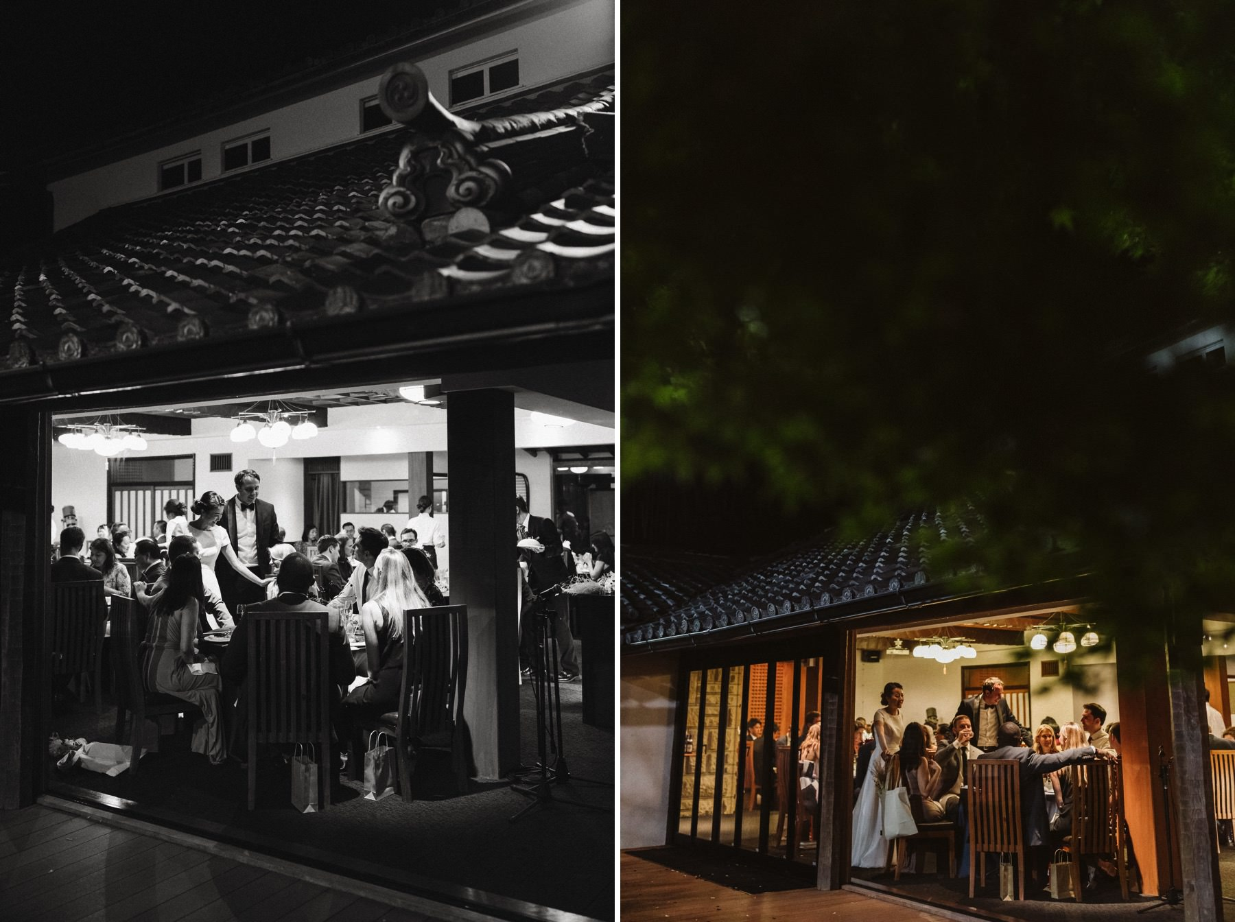 Japanese American international wedding Kyoto