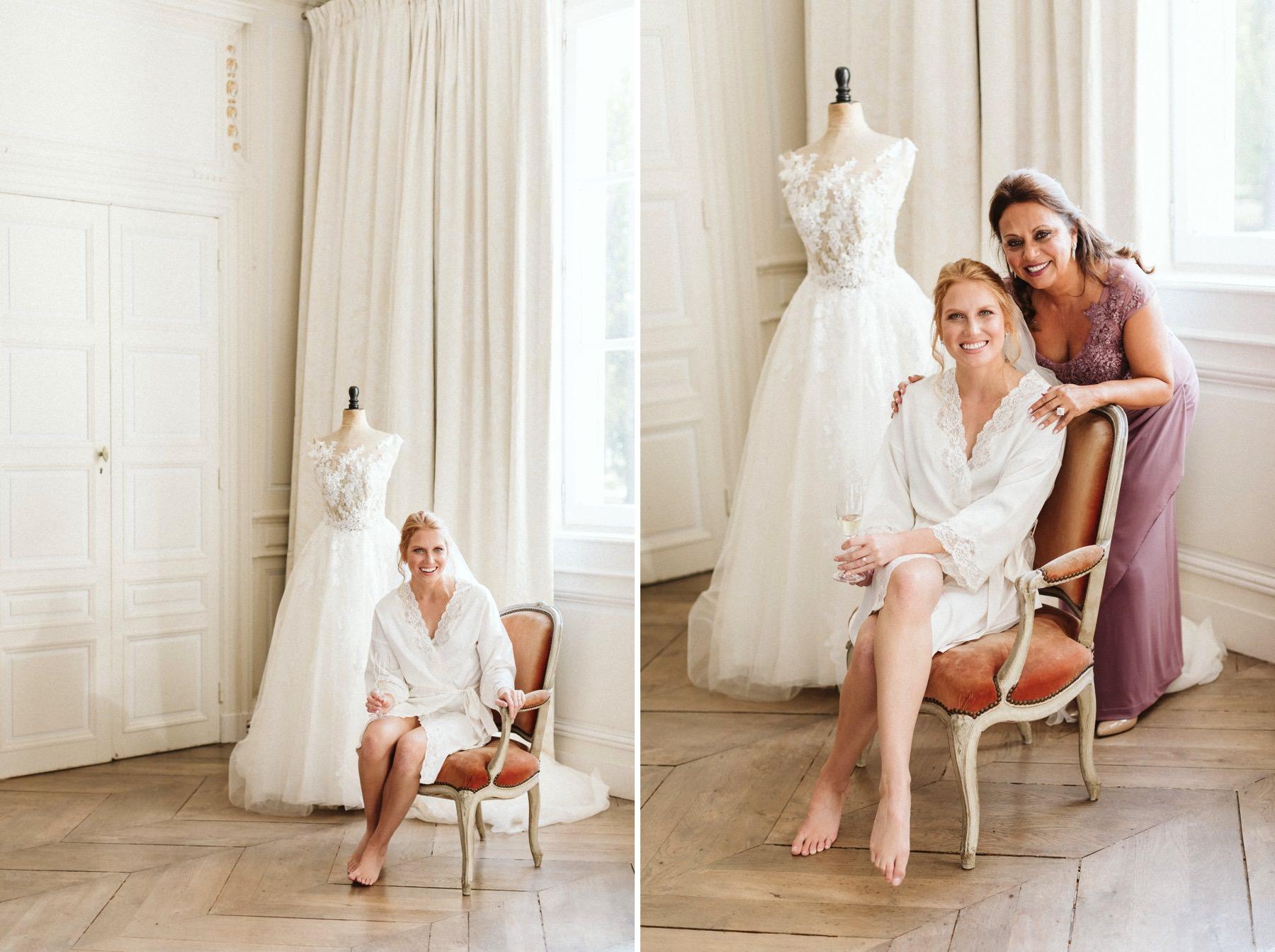 destination wedding in French chateau