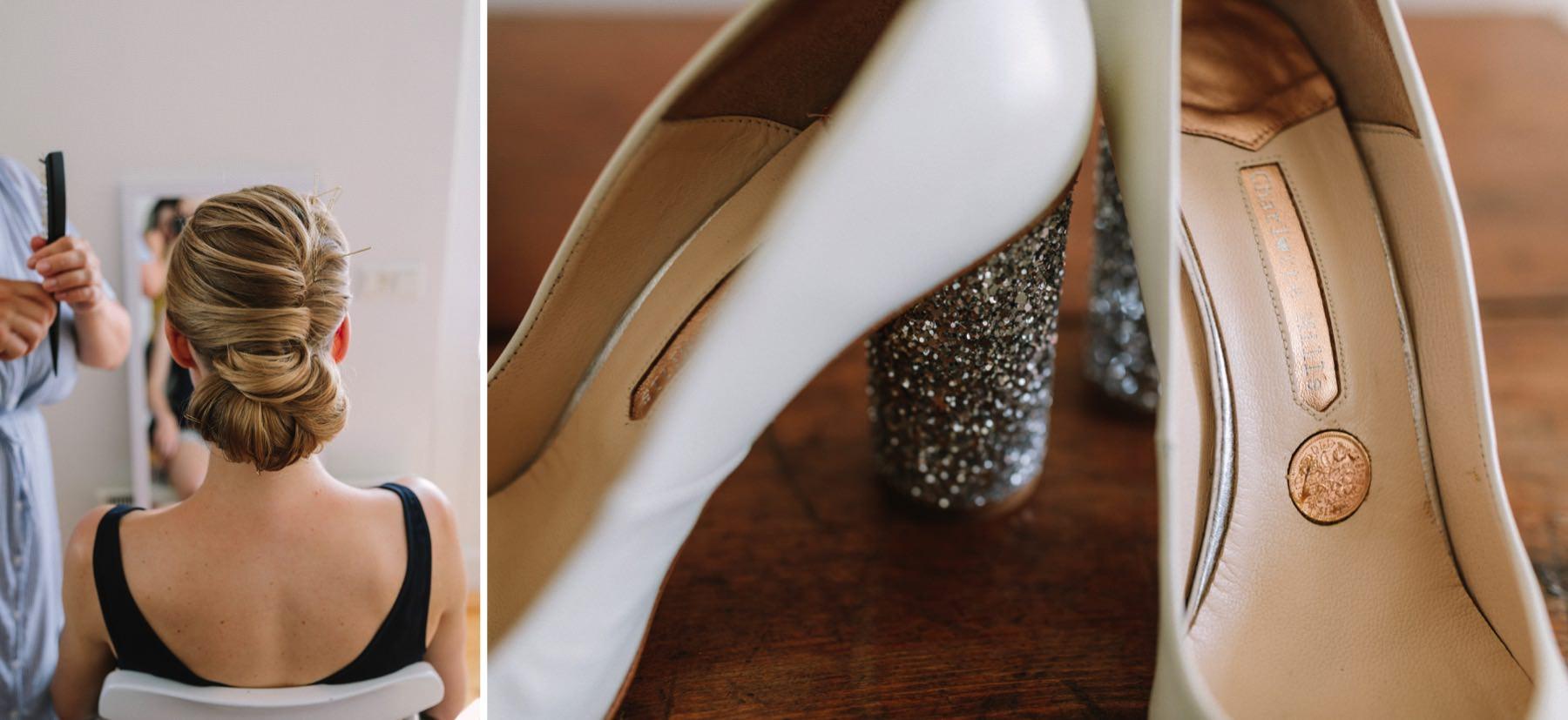 penny in a shoe