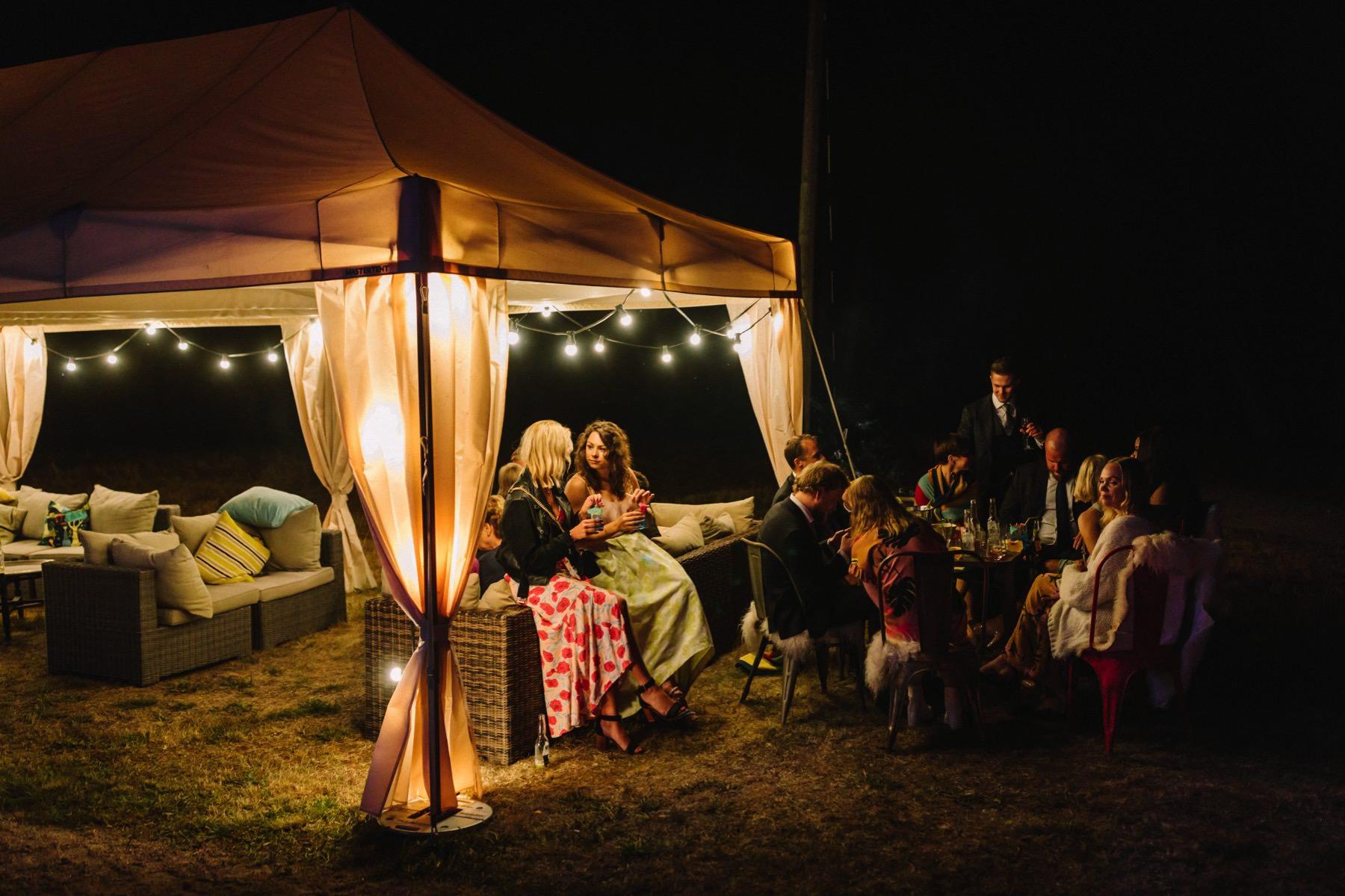 night wedding atmosphere