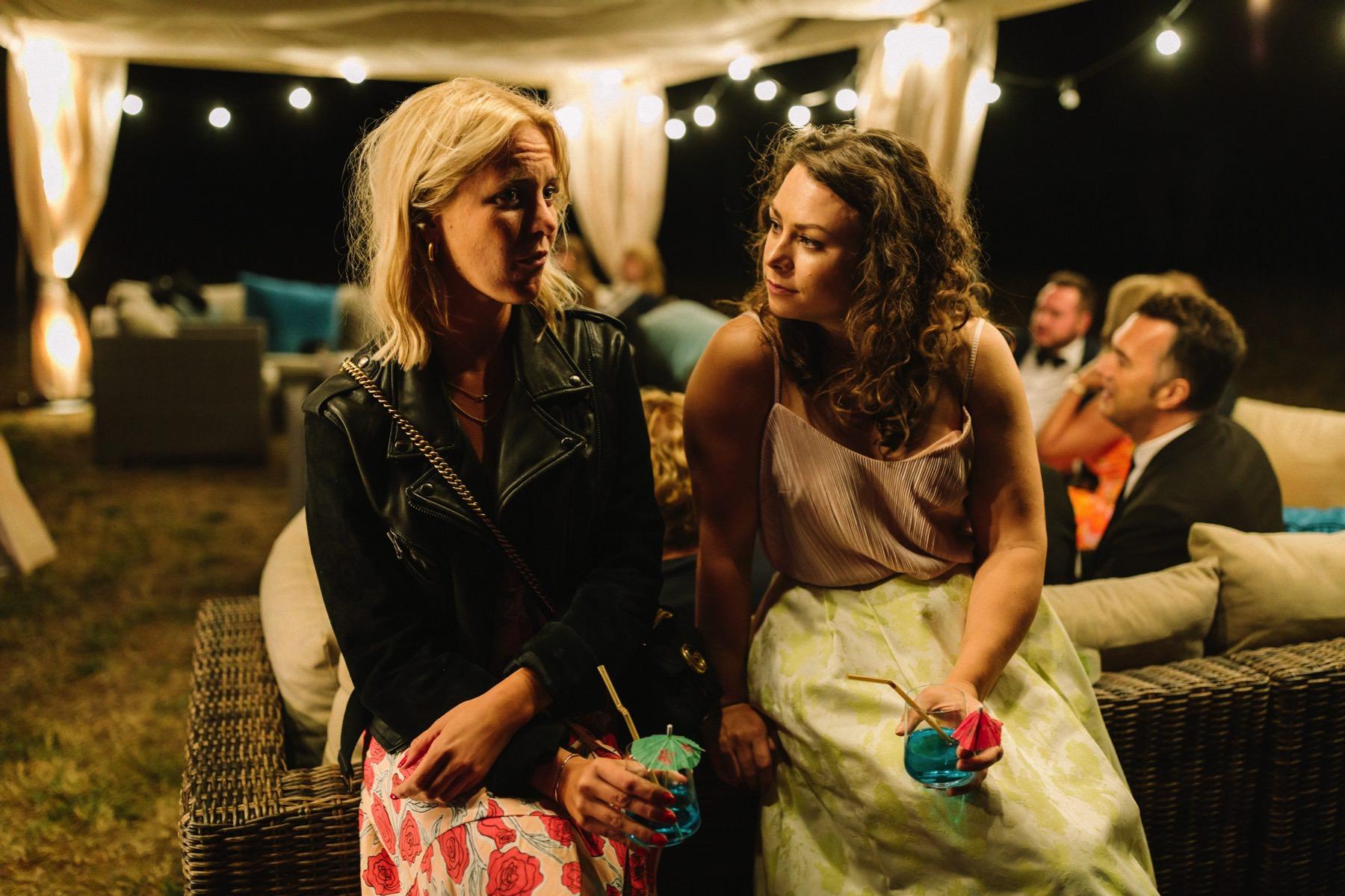 night wedding vibes
