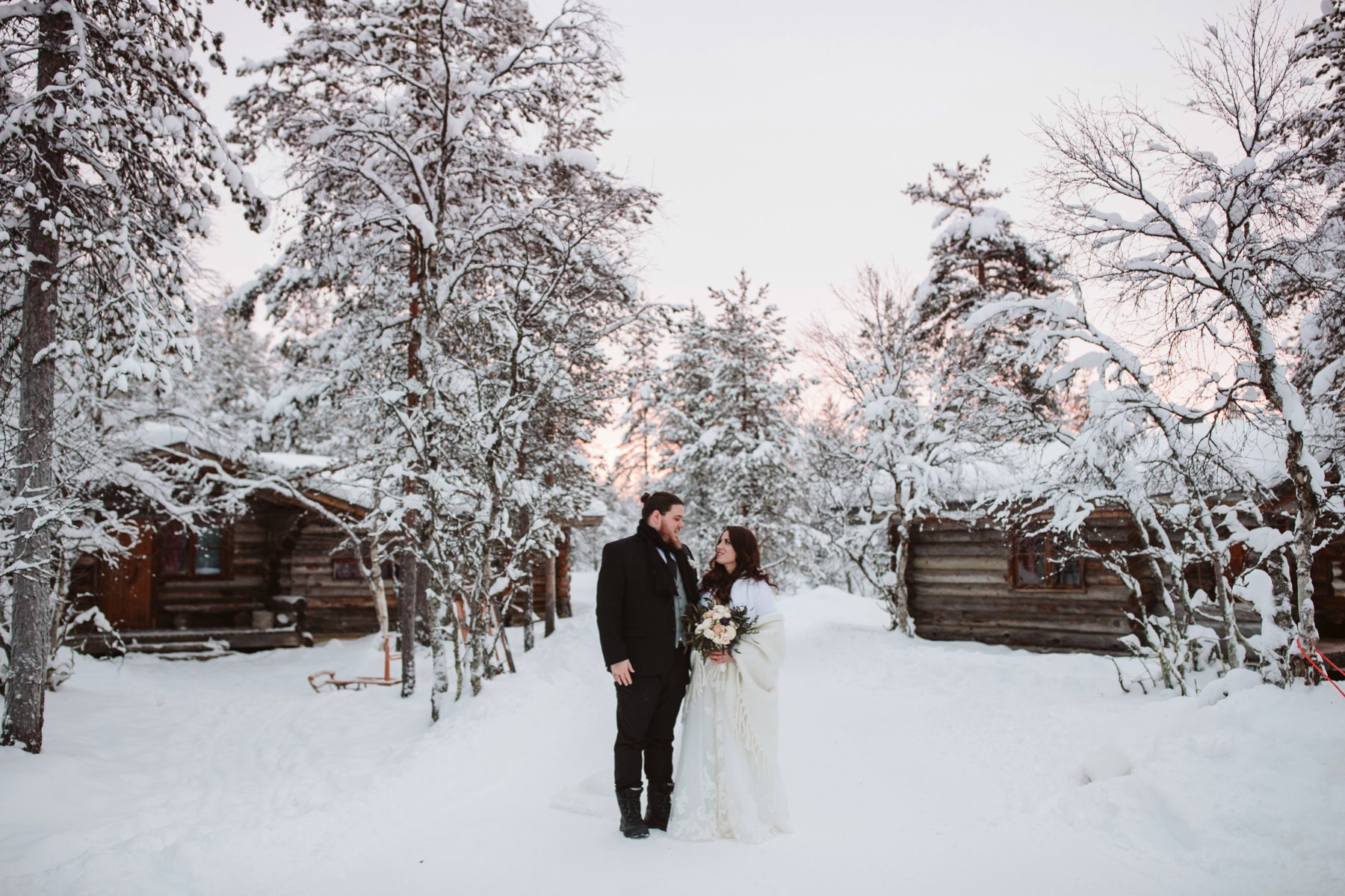 wedding photographer in Lapland