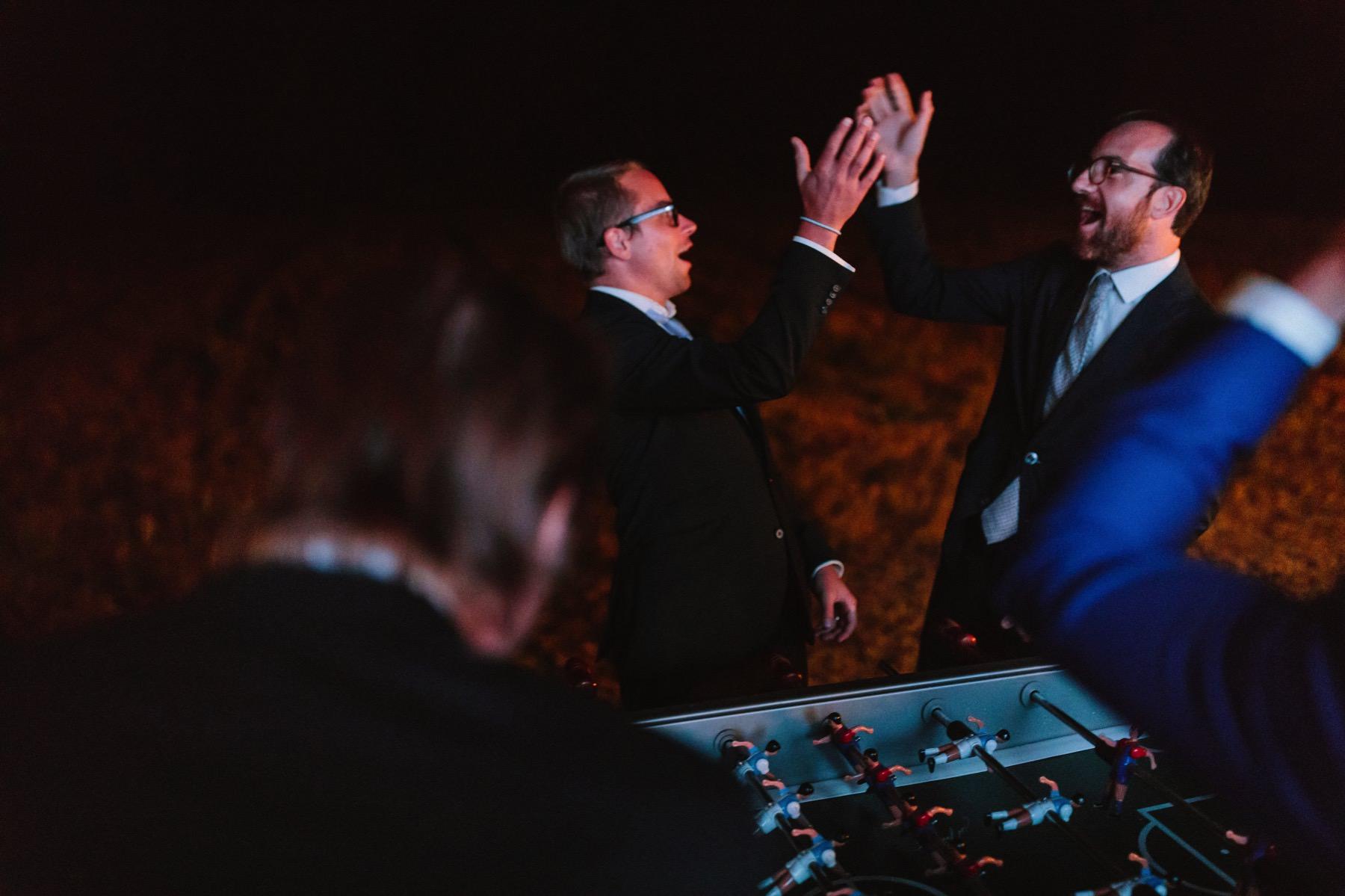 wedding foosball game