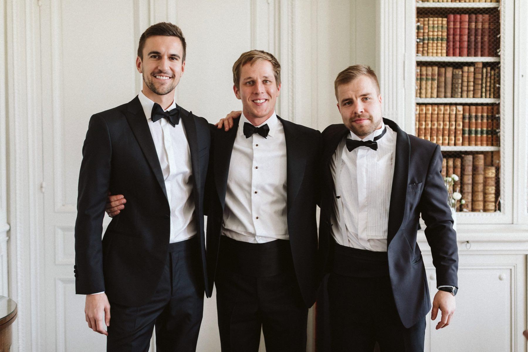 groomsmen at wedding in France