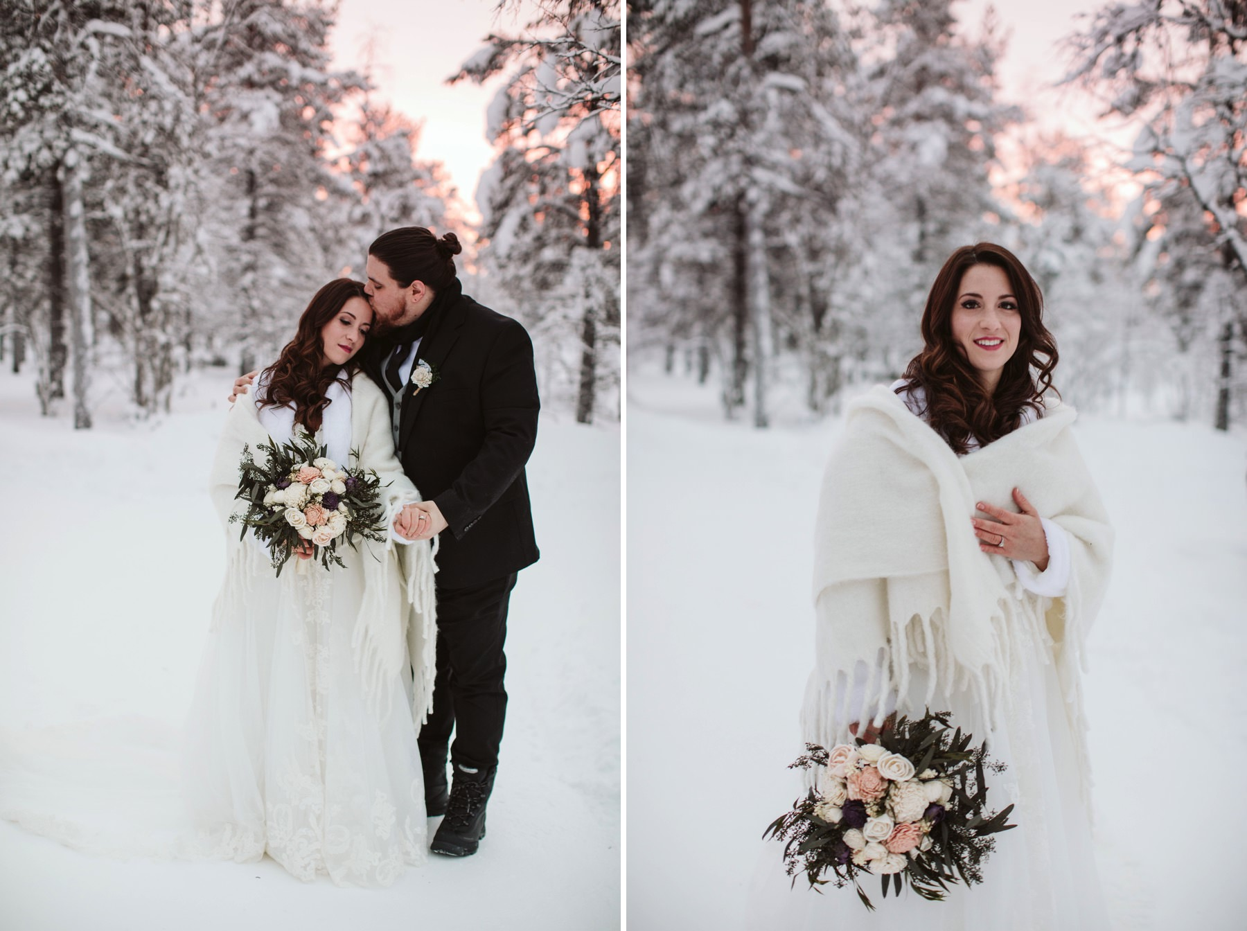 wedding portraits in Lapland