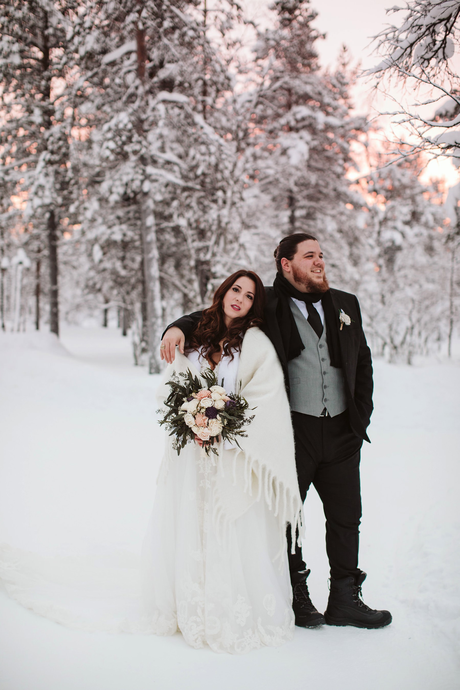 Lapland wedding portraits